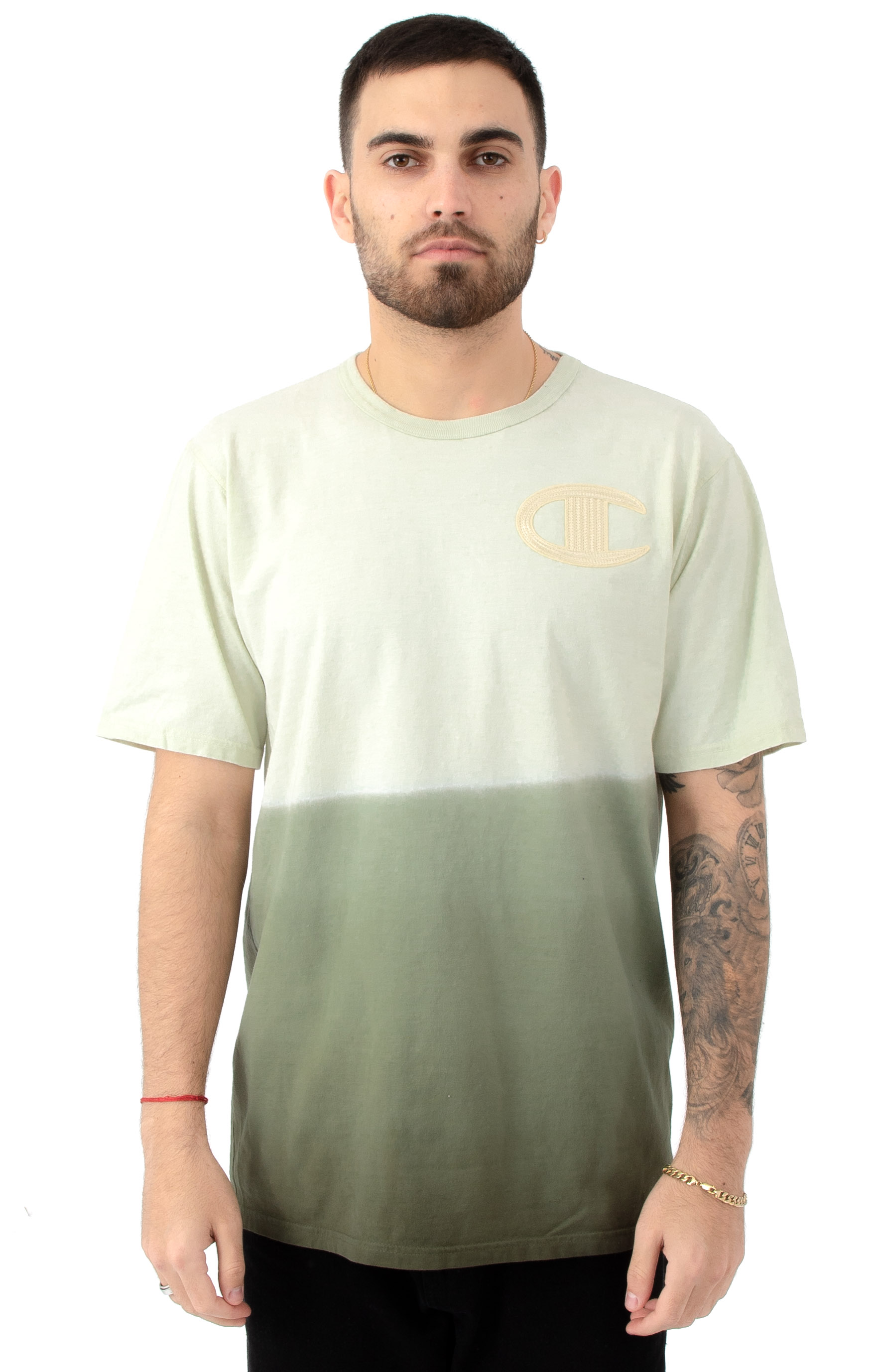 Ombre Dip Dye Heritage T-Shirt - Hiker Green