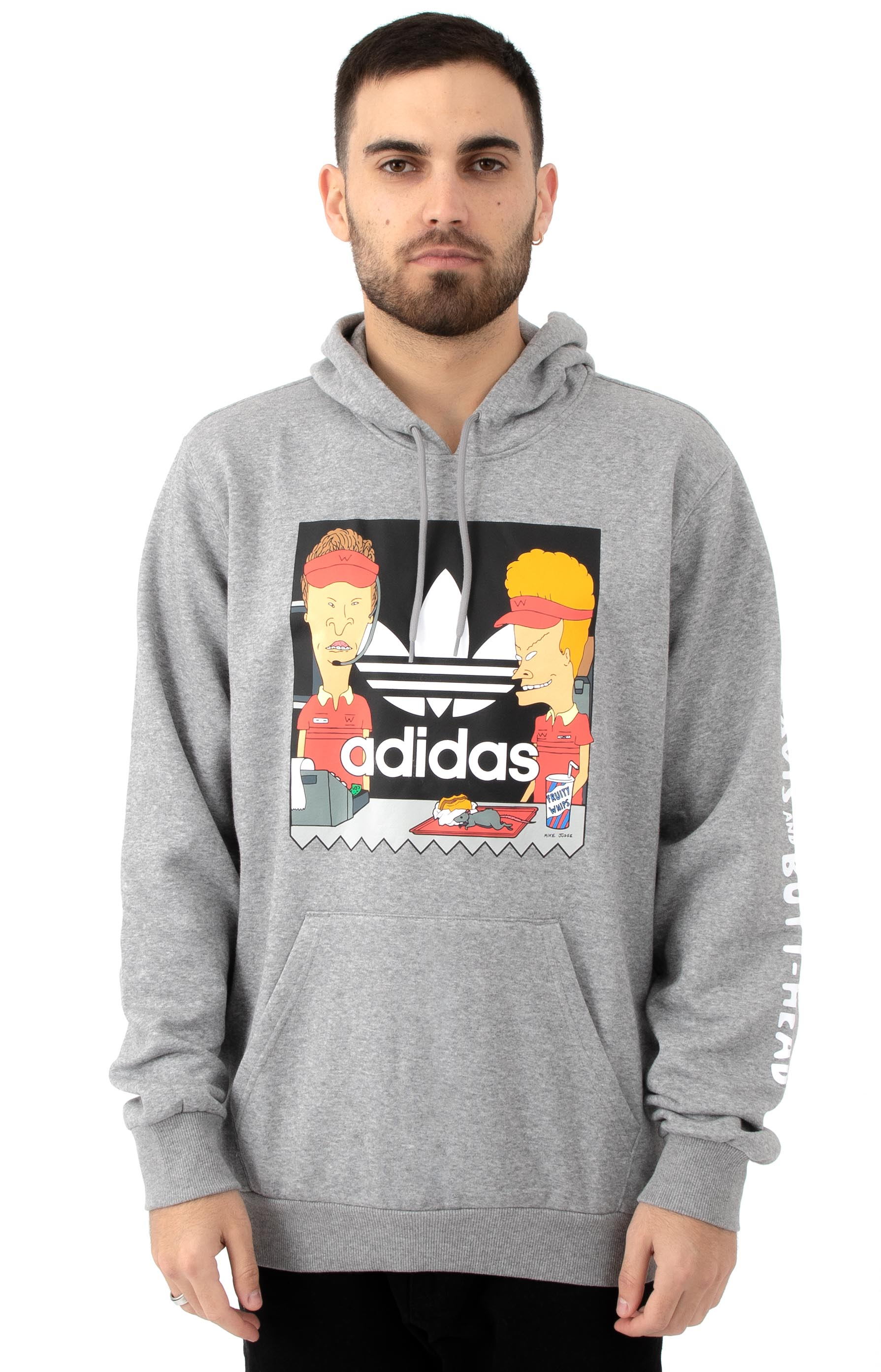 Beavis And Butthead Pullover Hoodie - Grey