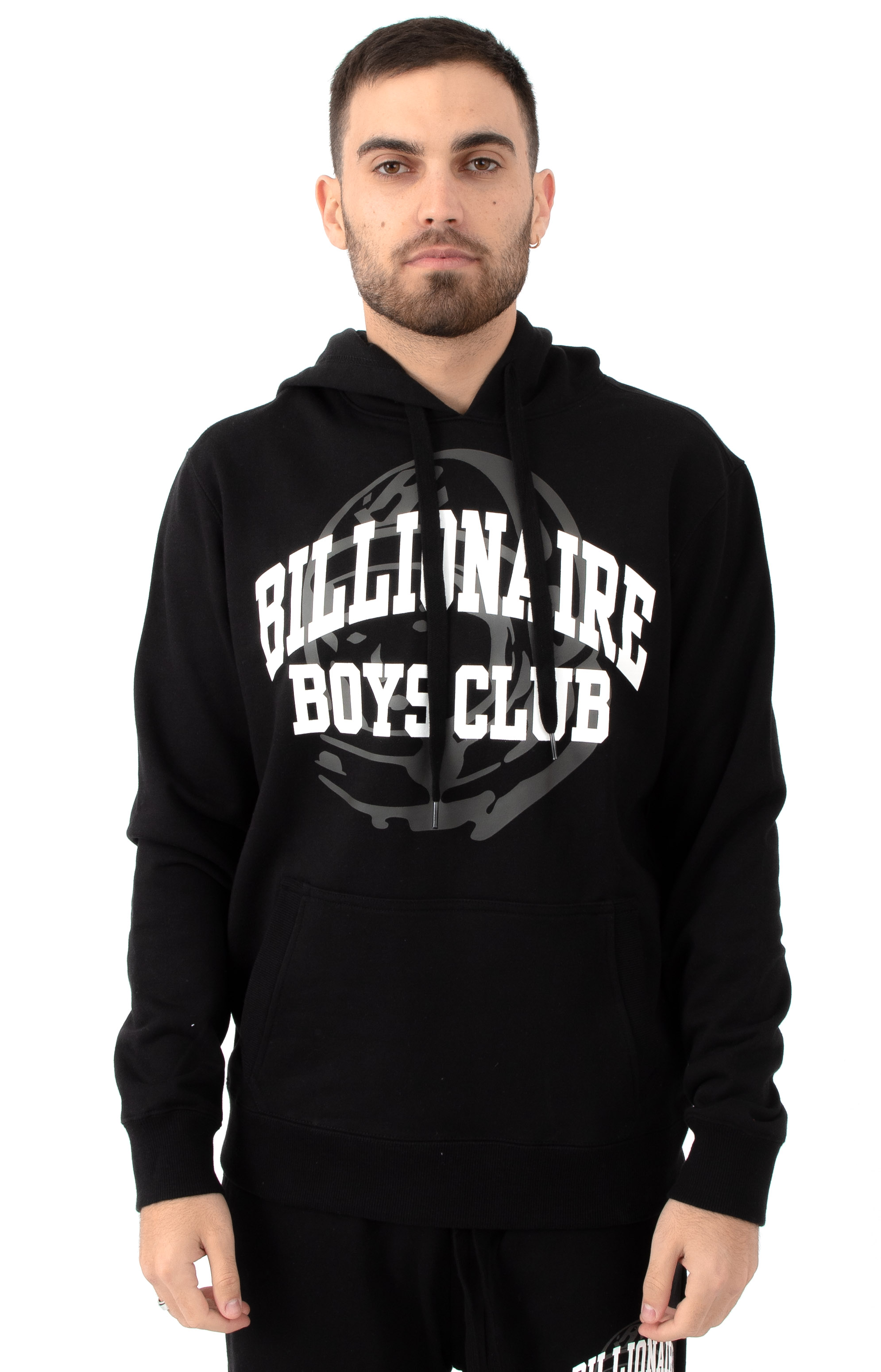 Billionaire Boys Club, BB Collegiate Pullover Hoodie - Black