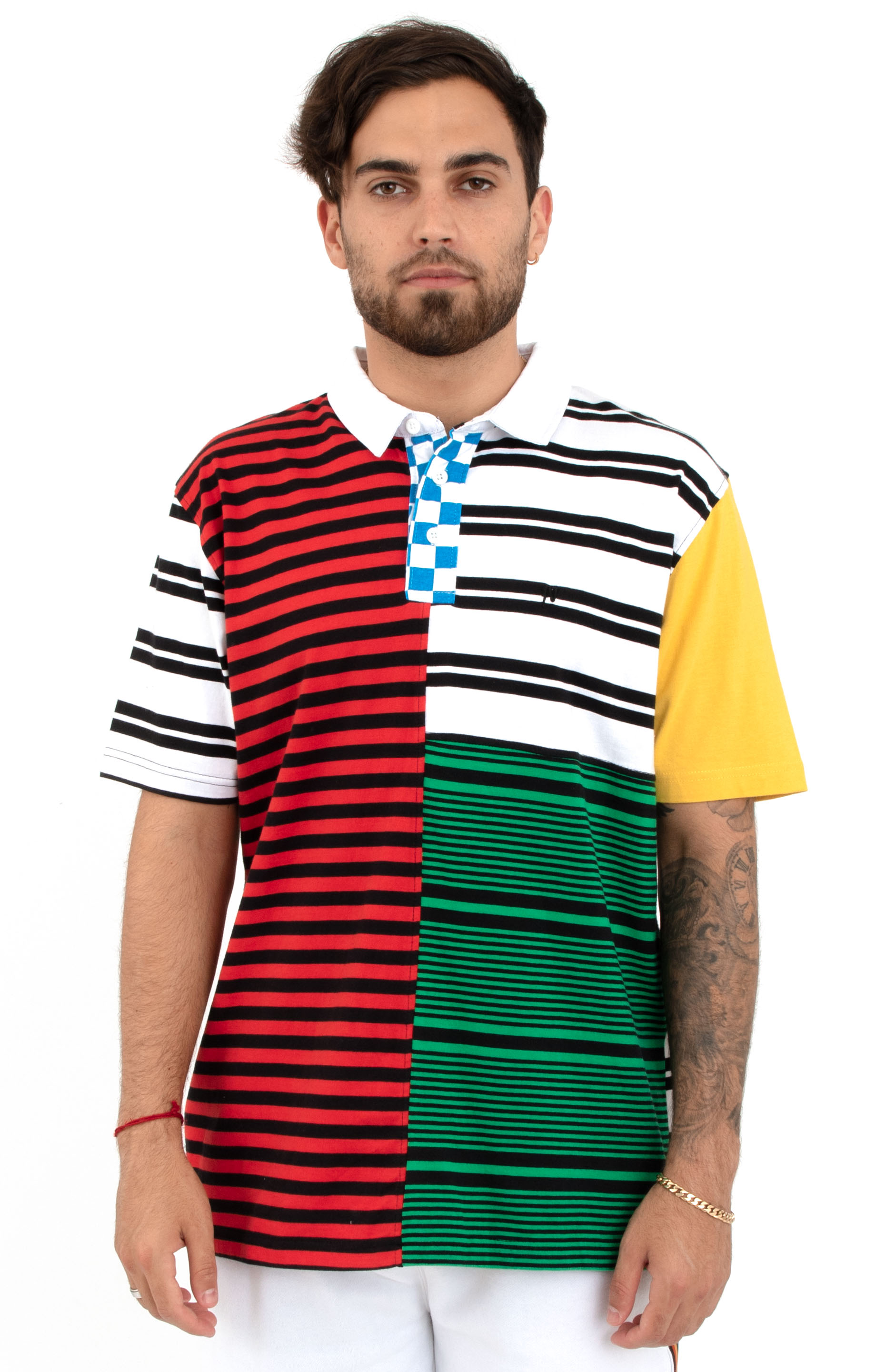 10 Deep, Many Wars S/S Rugby Shirt - Multi