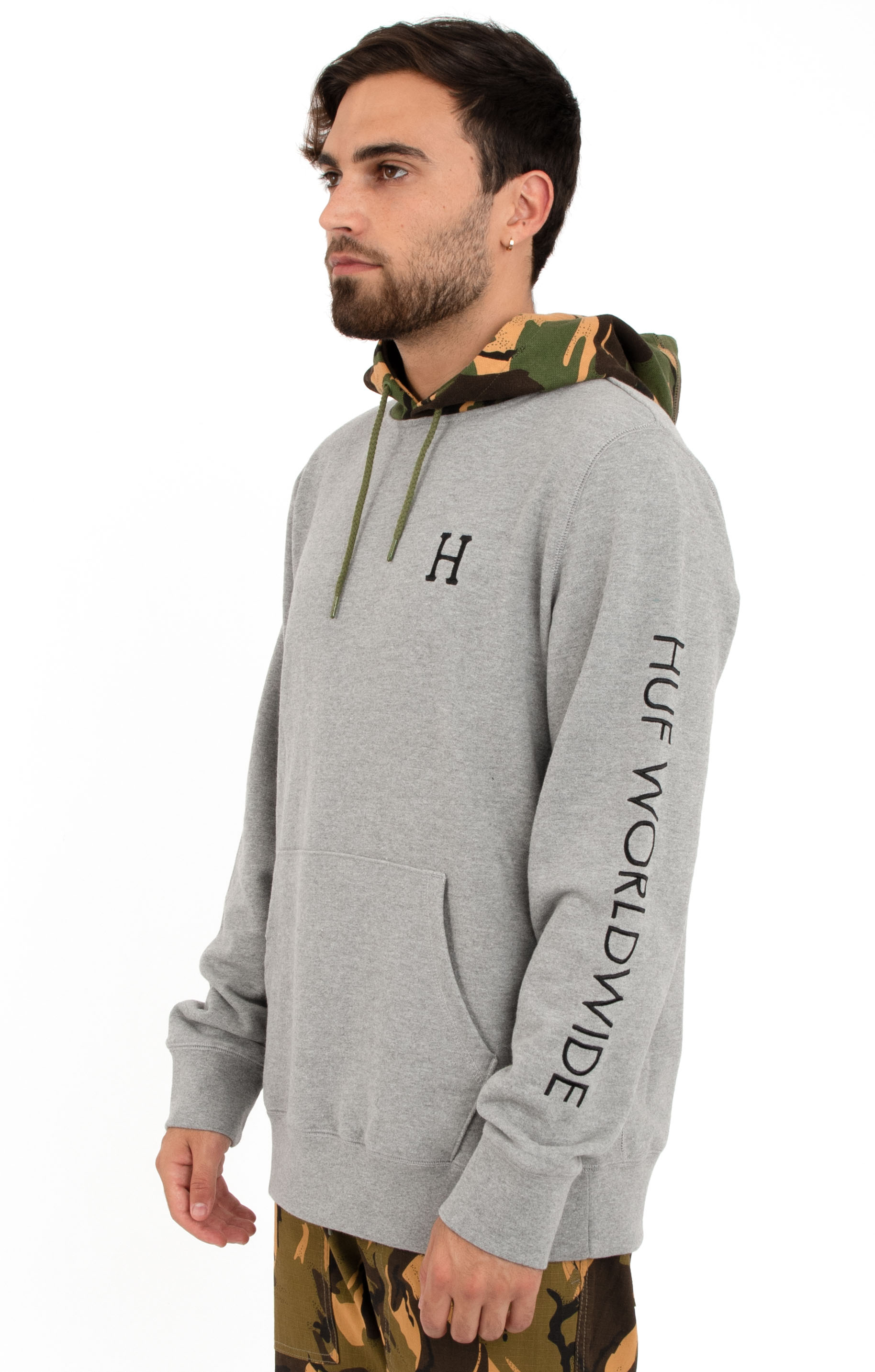 Voyage French Terry Pullover Hoodie - Grey