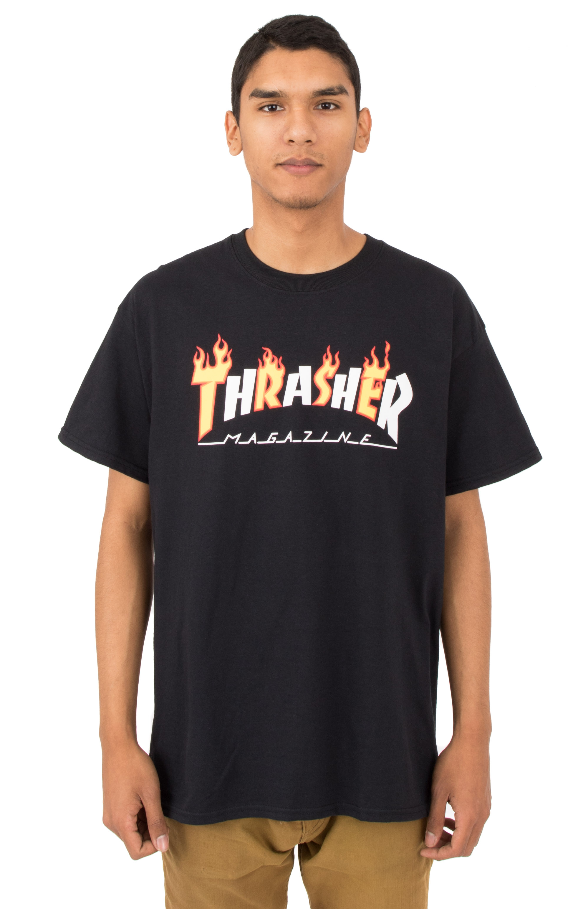 Flame Mag T-Shirt - Black