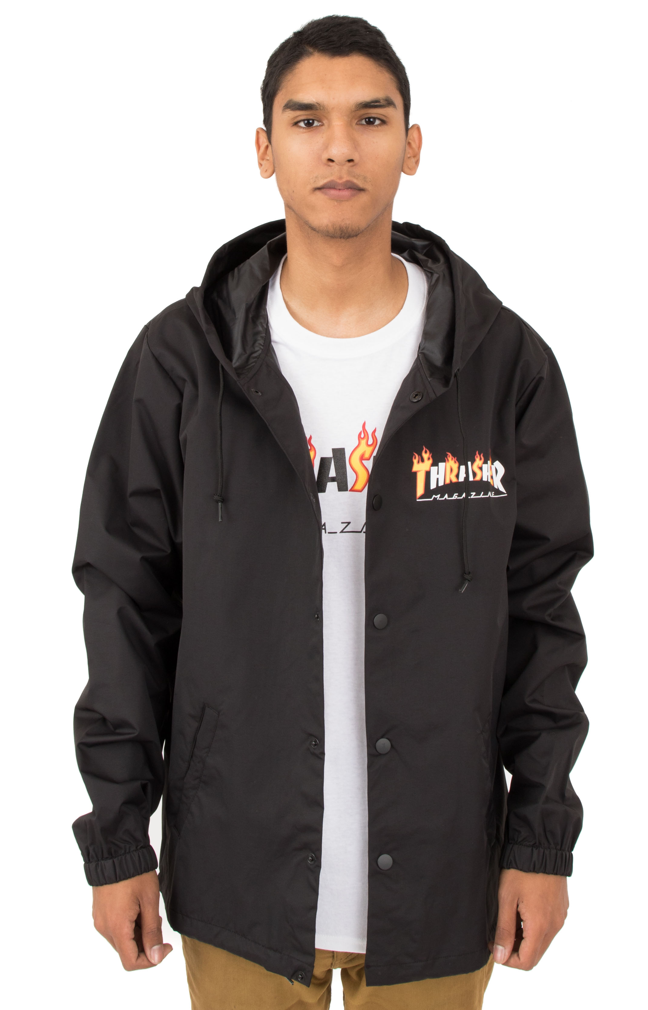 Thrasher, Flame Mag Coaches Jacket - Black