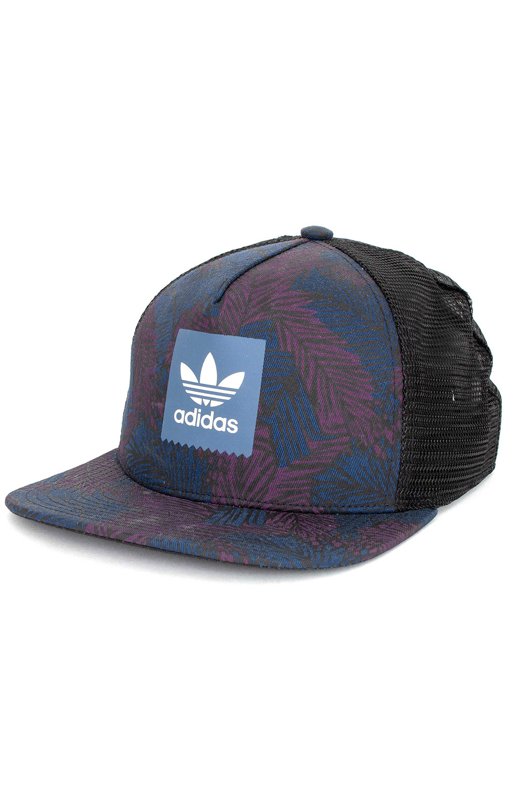 Palm Trucker Hat - Navy