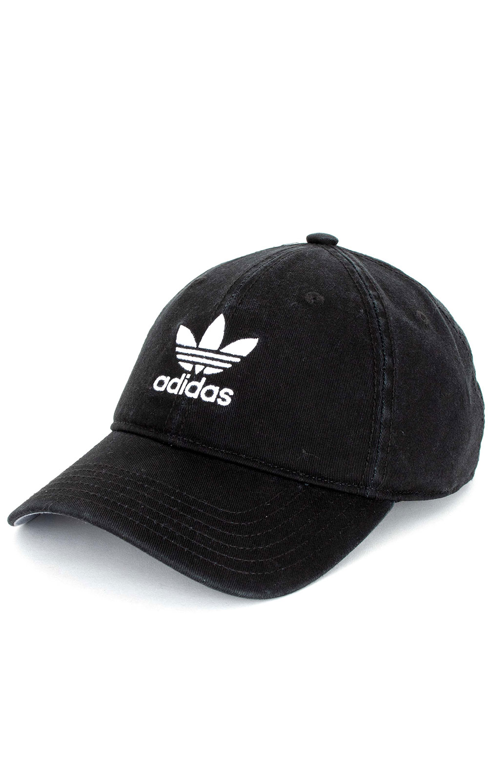 Adidas, Relaxed Strap-Back Hat - Black/White