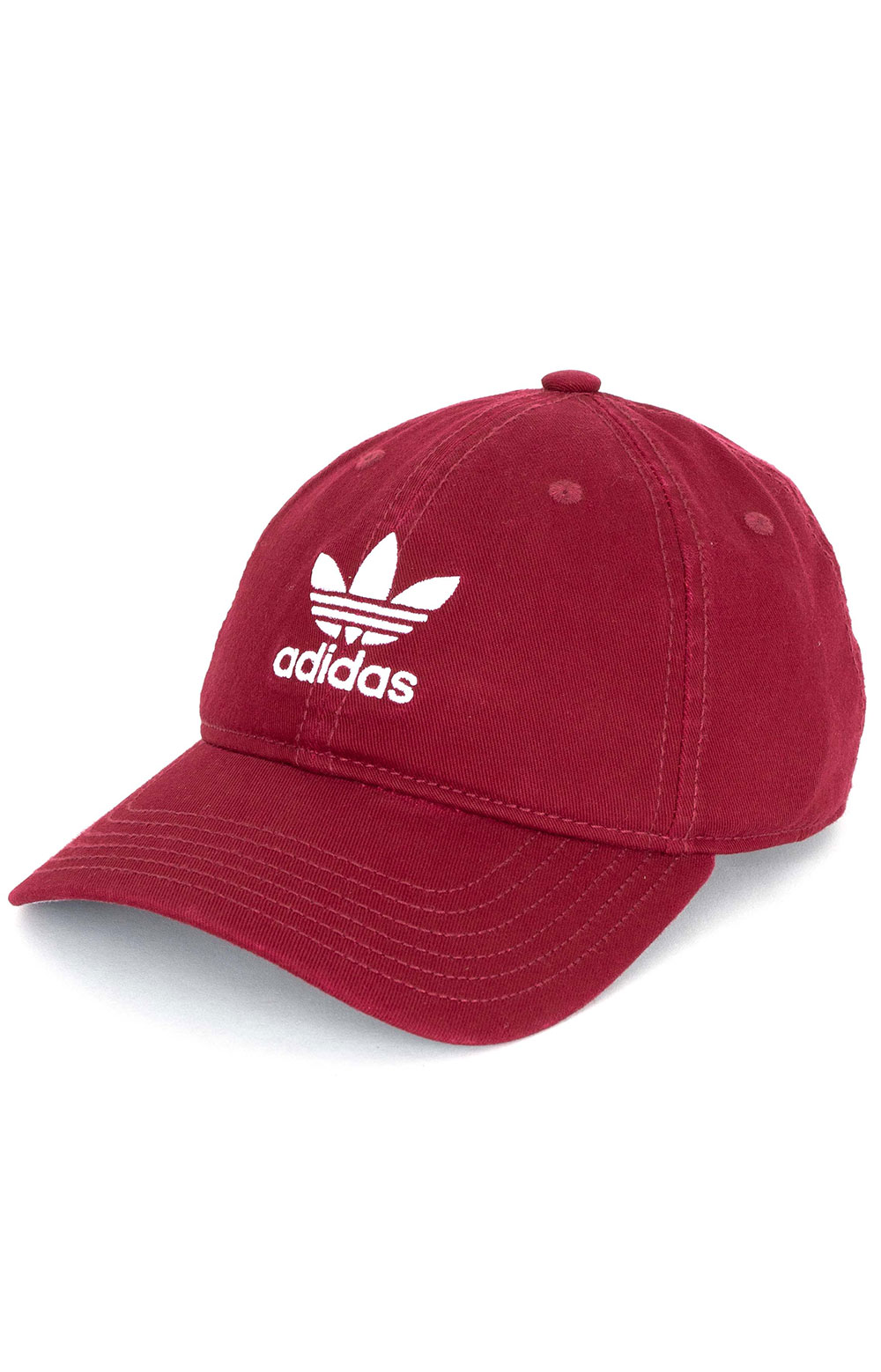 Relaxed Strap-Back Hat - Collegiate Burgundy/White
