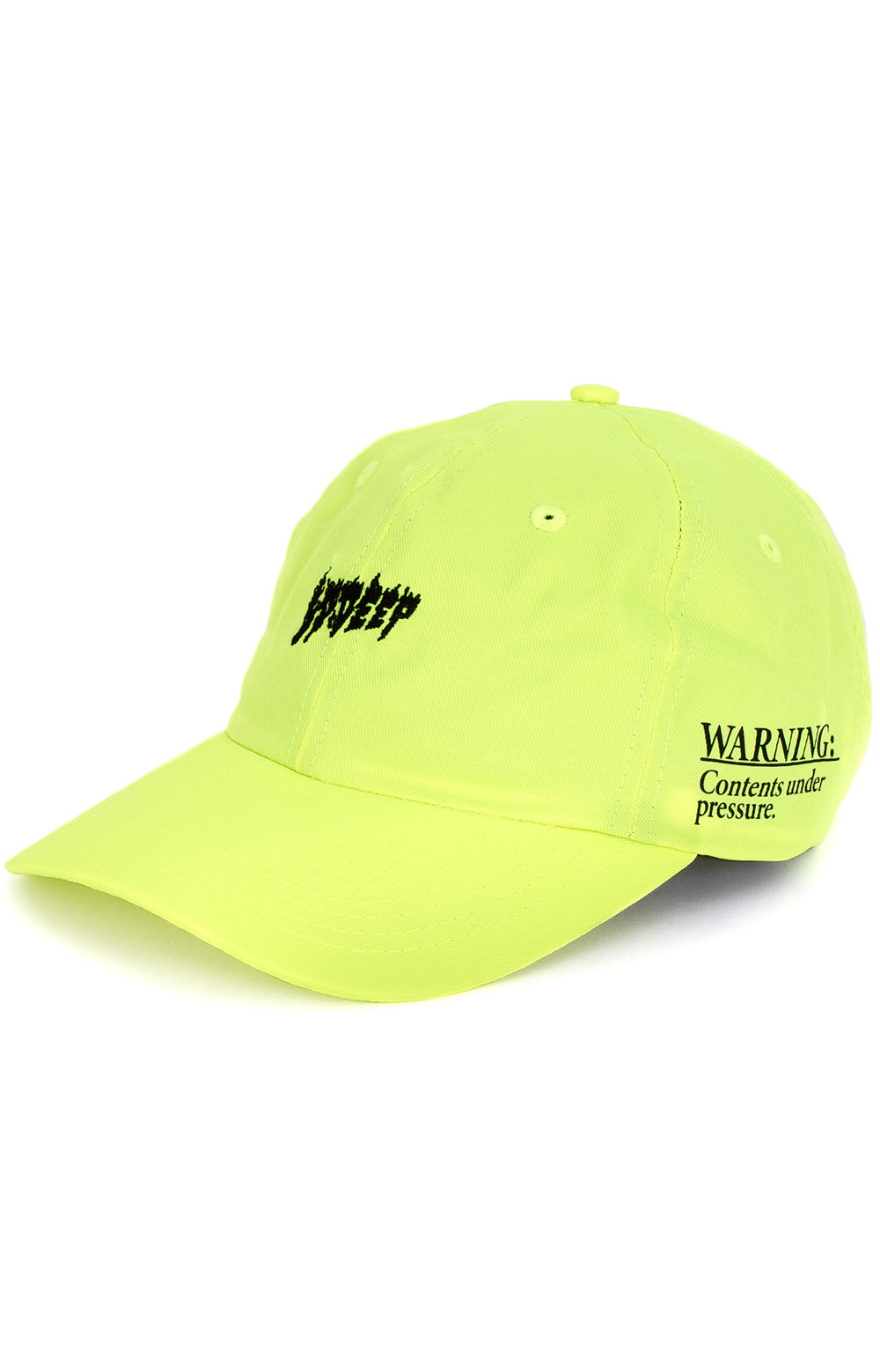 Yoga Flame Dad Hat - Neon Yellow