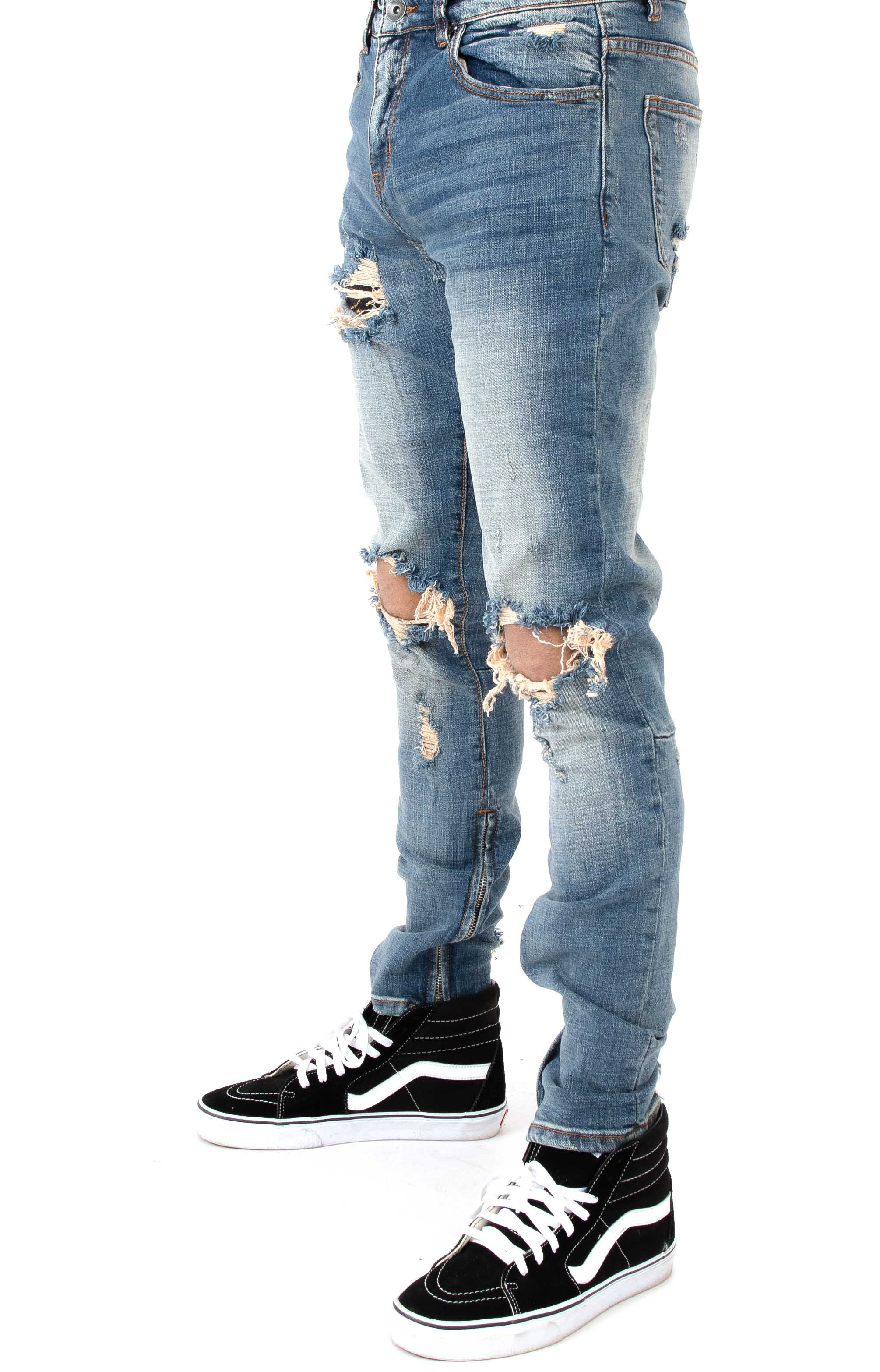 (CRYSU118-PAC04) Pacific Denim Jeans - Stone Wash