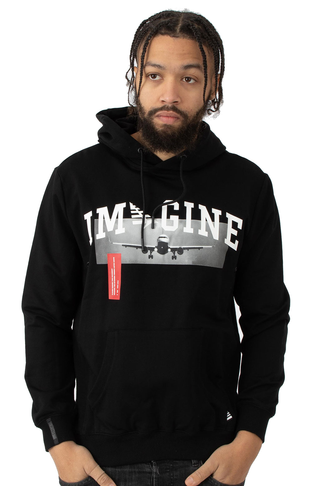 Passport Holder Pullover Hoodie - Black