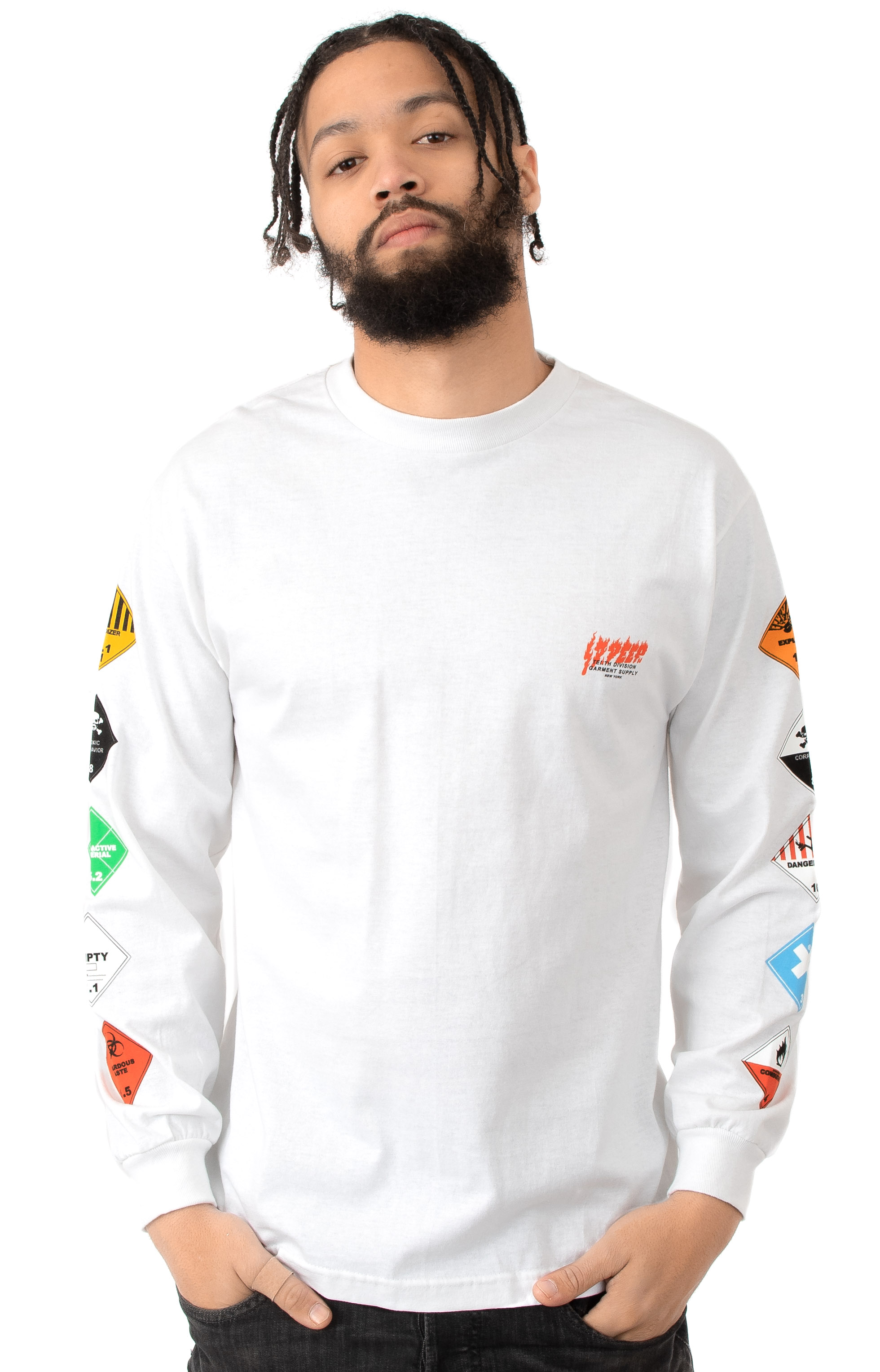 Prohibited L/S Shirt - White