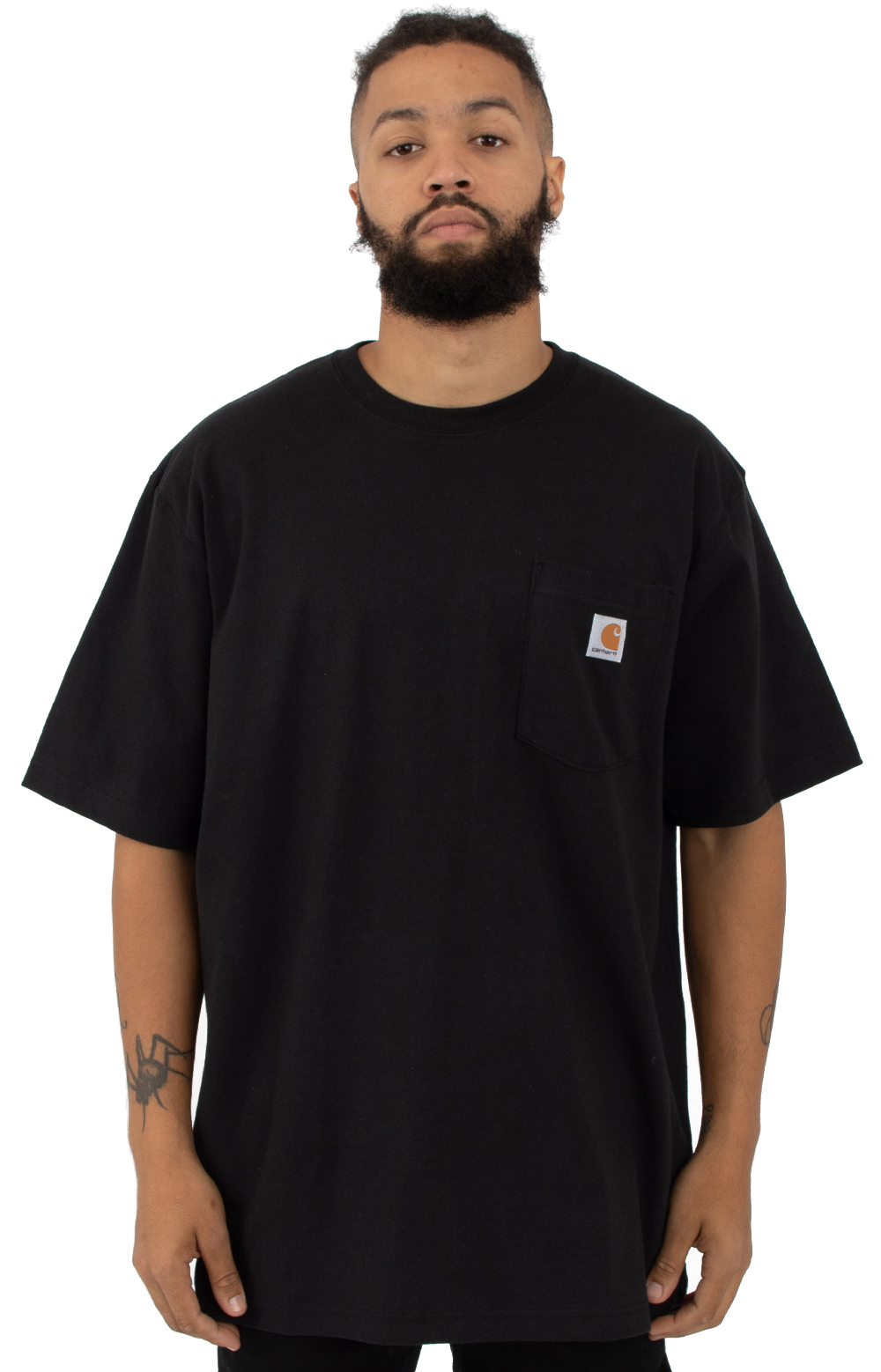 (K87) Workwear Pocket T-Shirt - Black 1