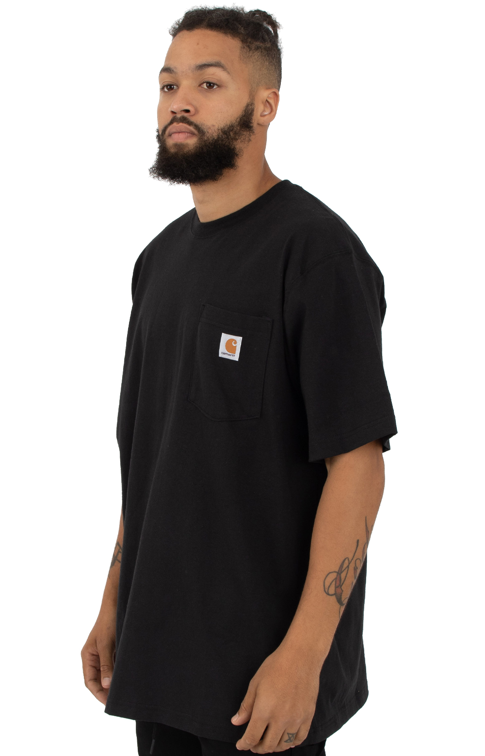 (K87) Workwear Pocket T-Shirt - Black 2