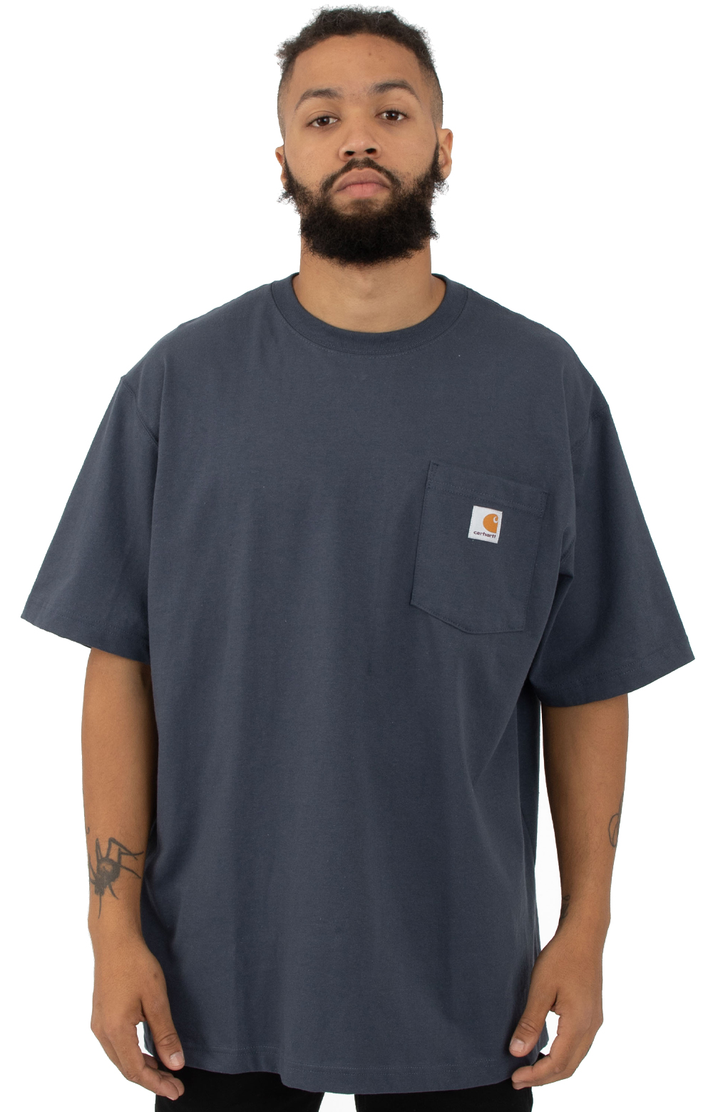 (K87) Workwear Pocket T-Shirt - Navy