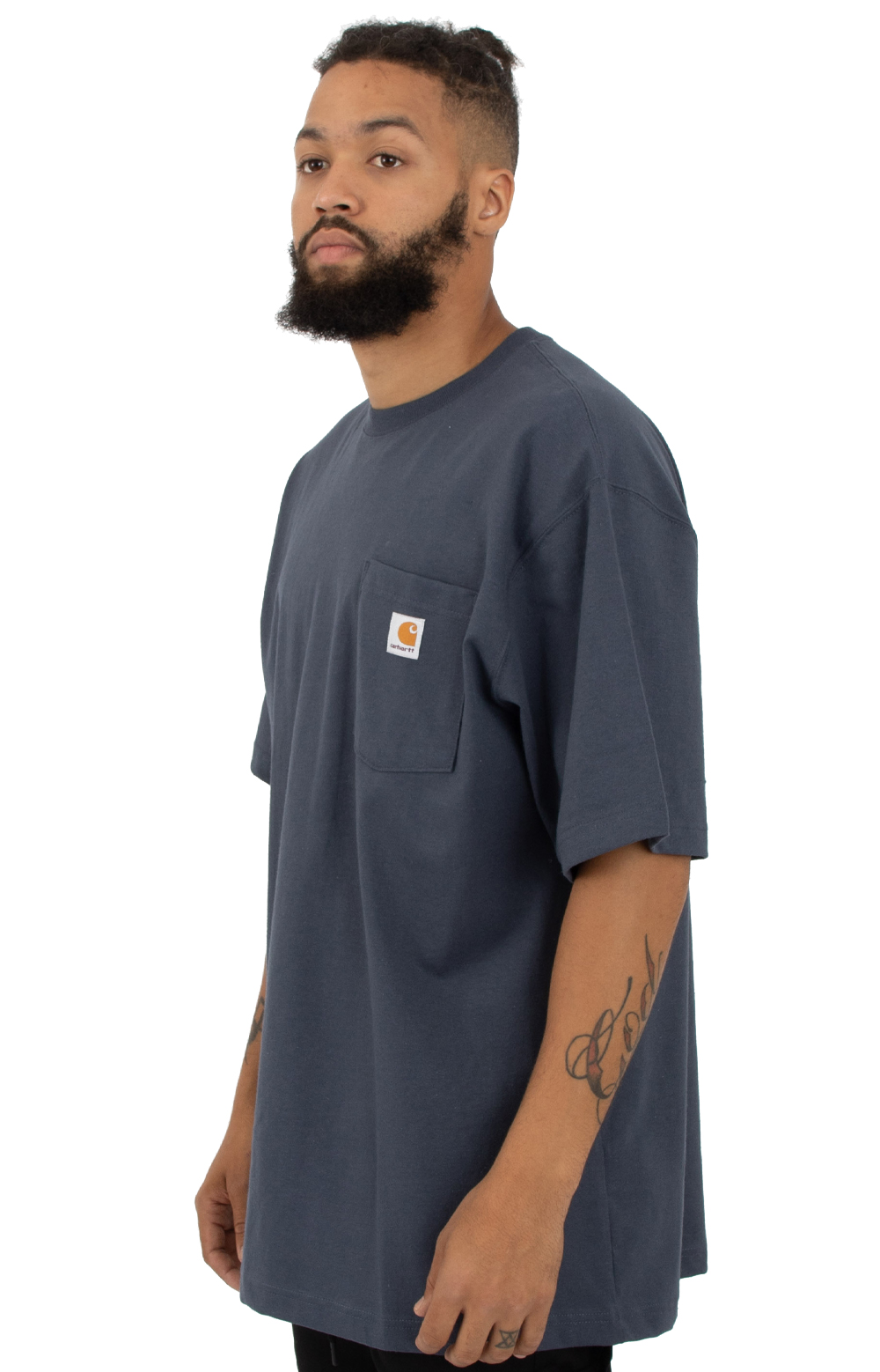 (K87) Workwear Pocket T-Shirt - Navy 2