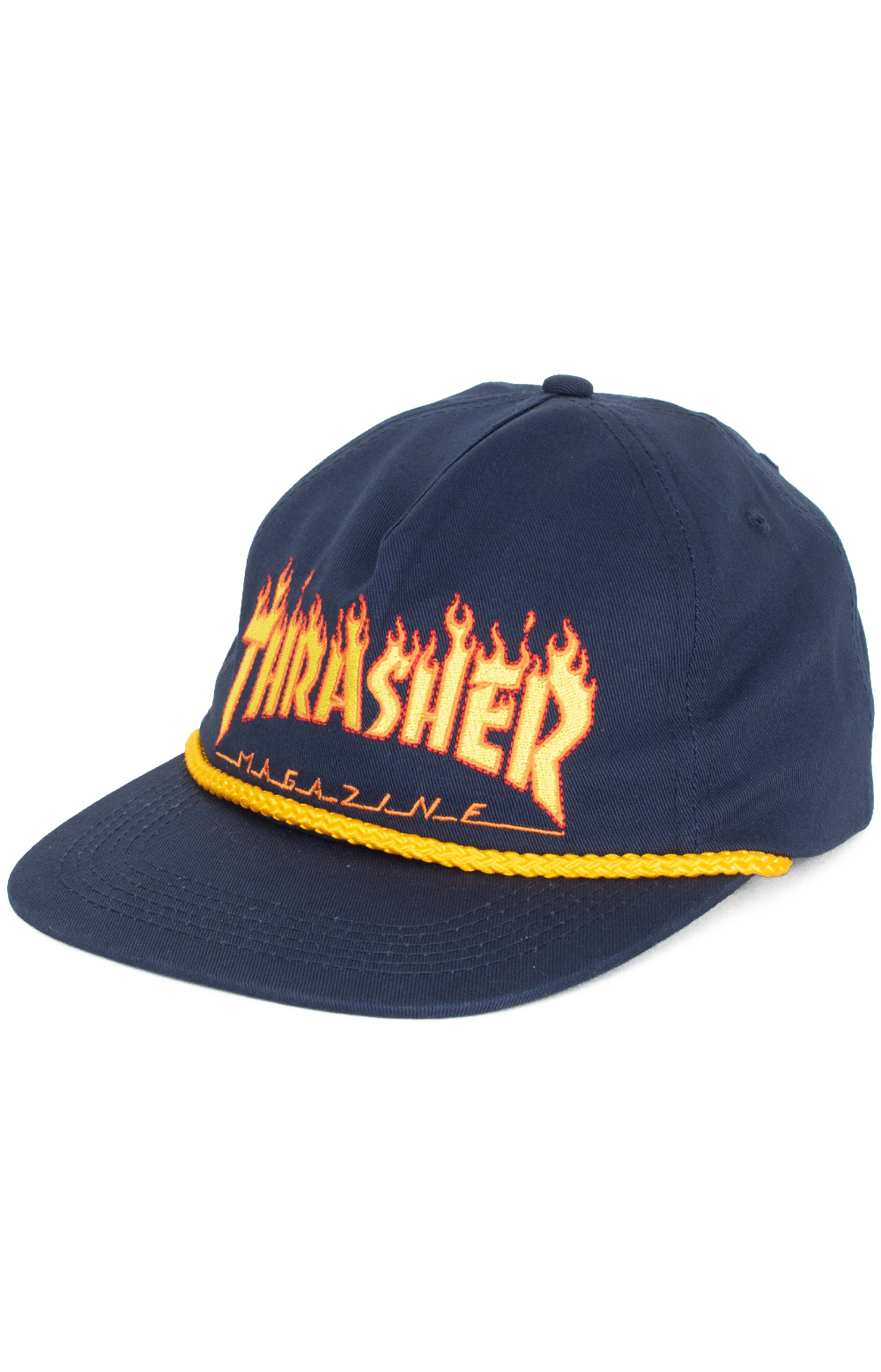 Flame Rope Snap-Back Hat - Navy Blue