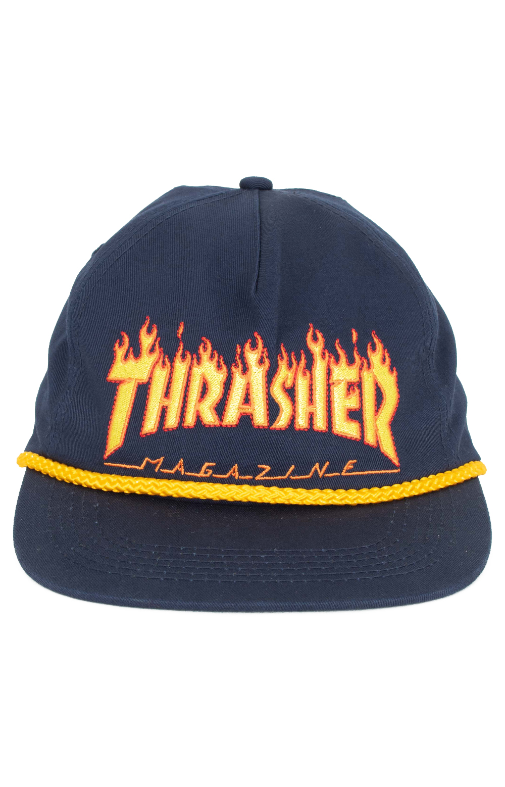 Flame Rope Snap-Back Hat - Navy Blue 2
