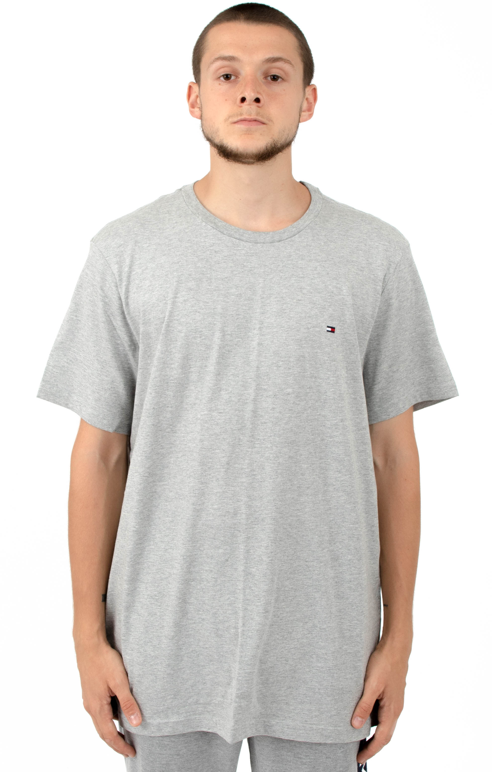 Core Flag Crew T-Shirt - Heather Grey