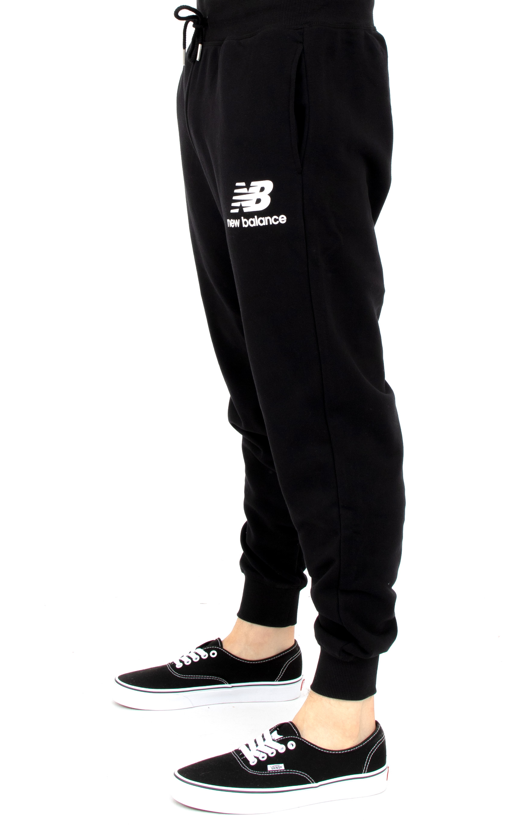 Essential Stack Logo Sweatpant - Black