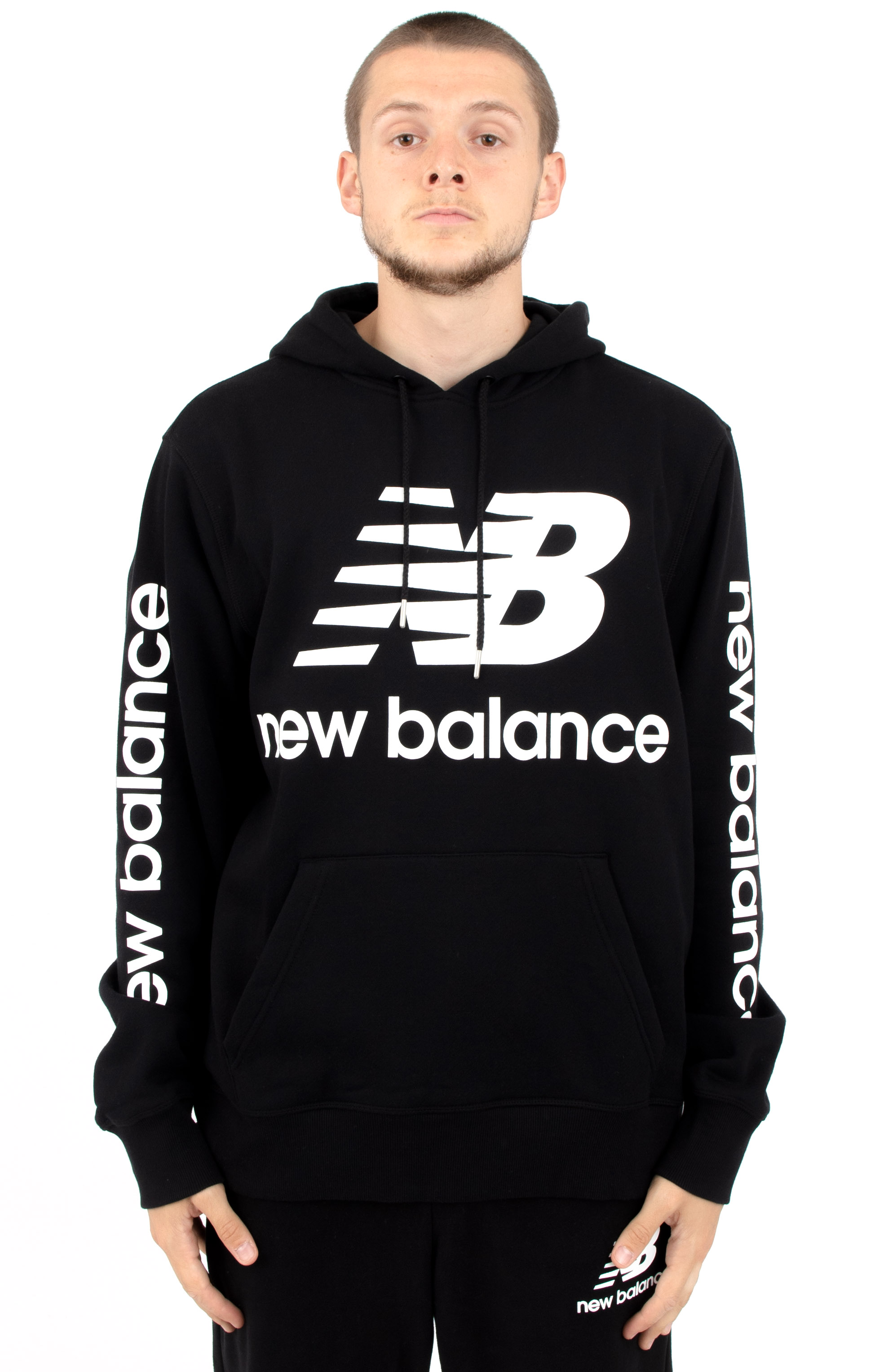 Essentials NB Logo Pullover Hoodie - Black