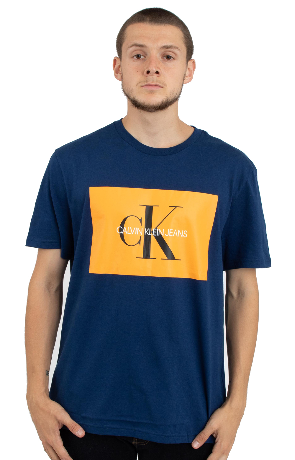 Calvin Klein, Monogram Logo T-Shirt - Night Rider