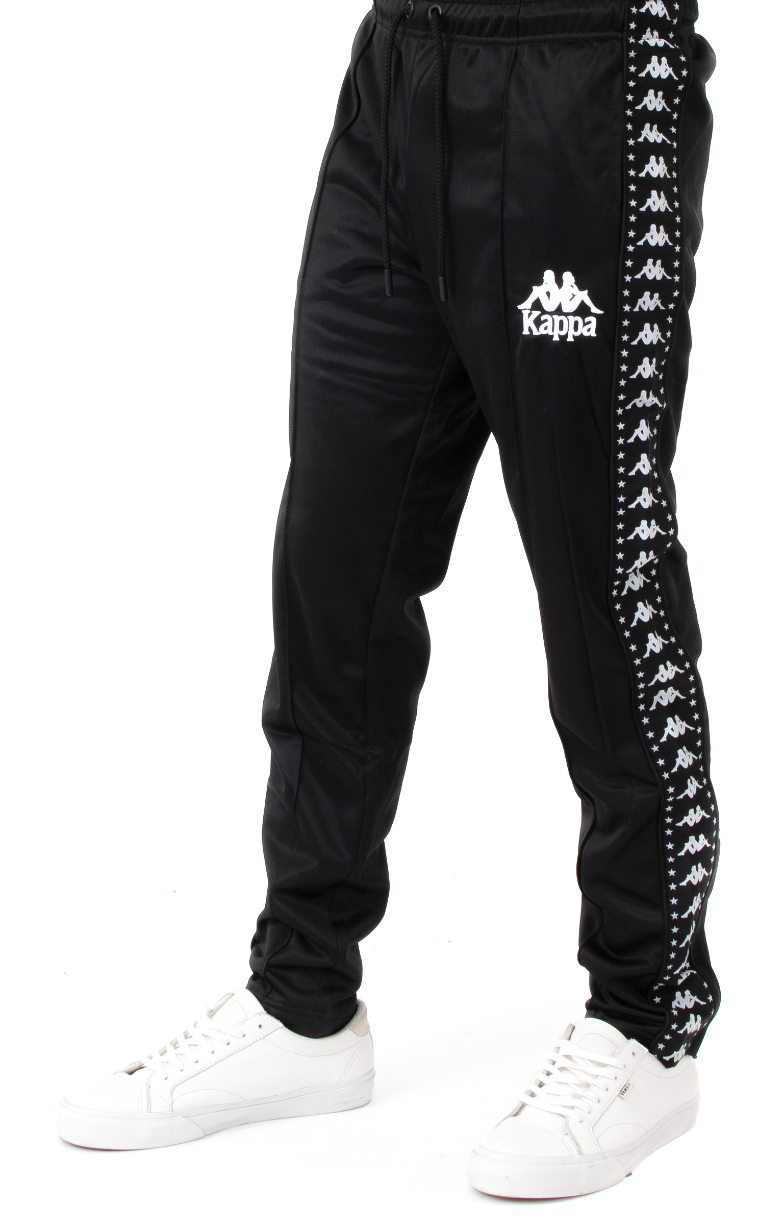 Authentic Anac Slim Fit Track Pants - Black/White