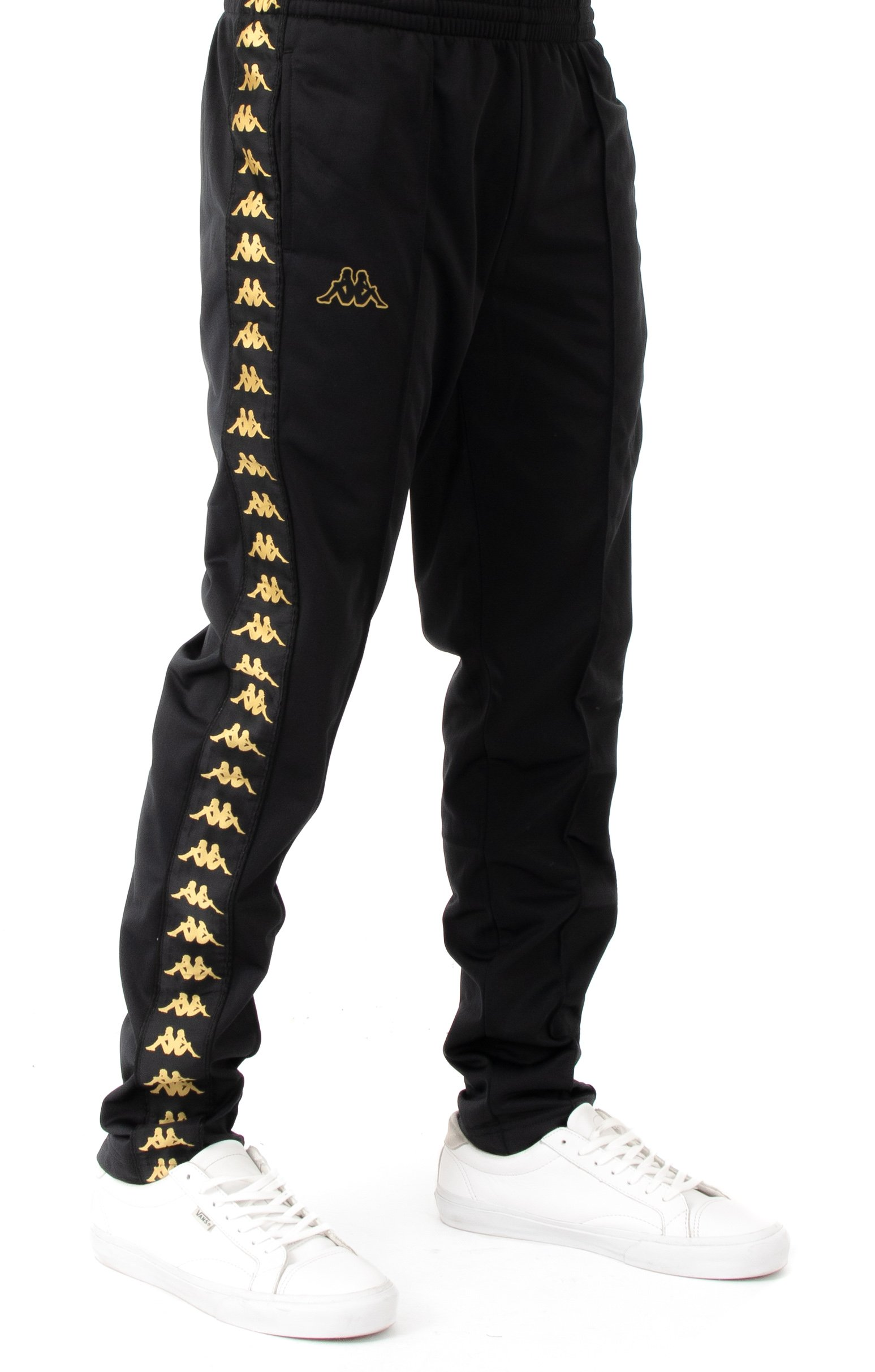 222 Banda Astoria Slim Track Pants - Black/Gold