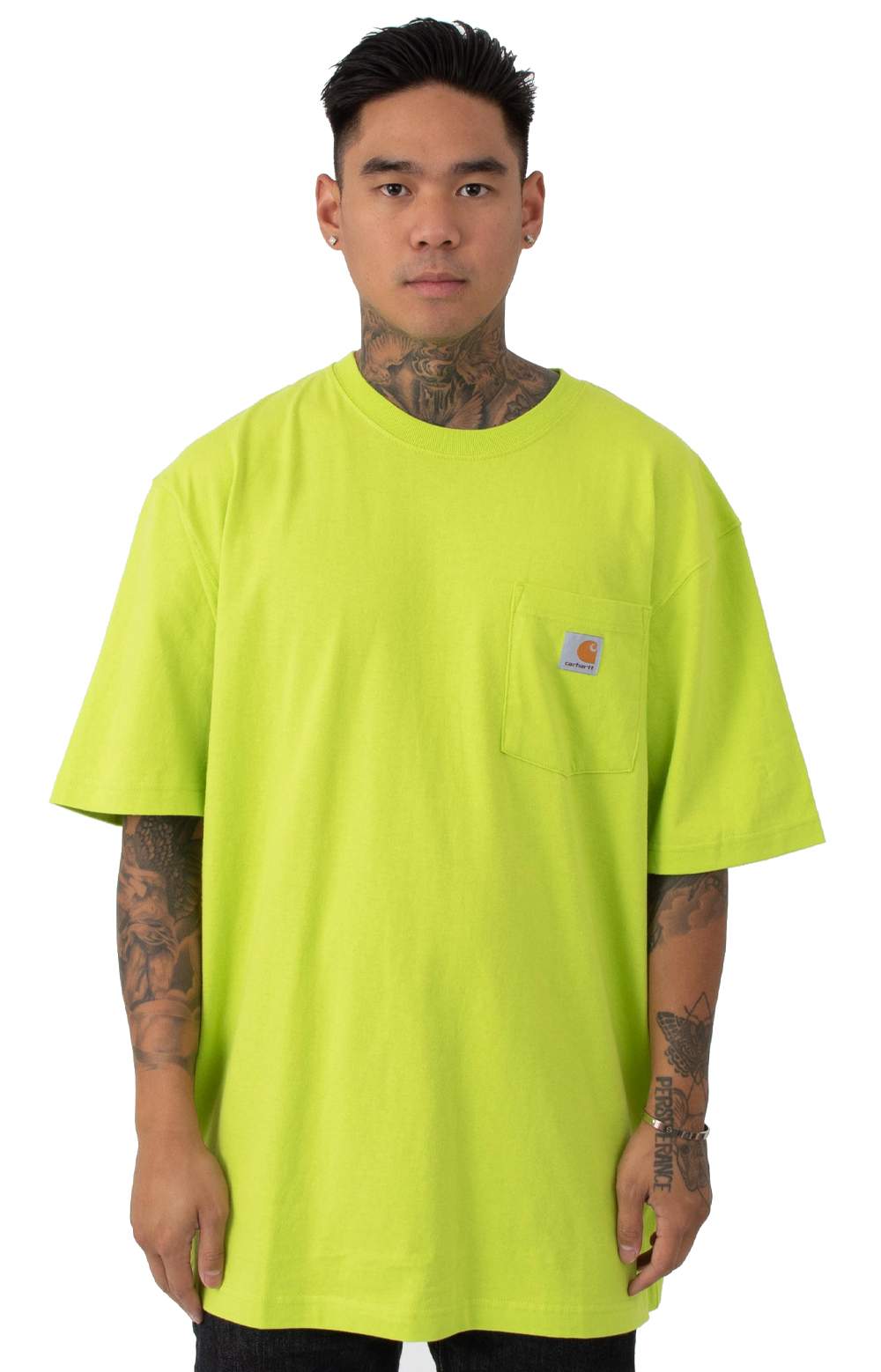 (K87) Workwear Pocket T-Shirt - Sour Apple