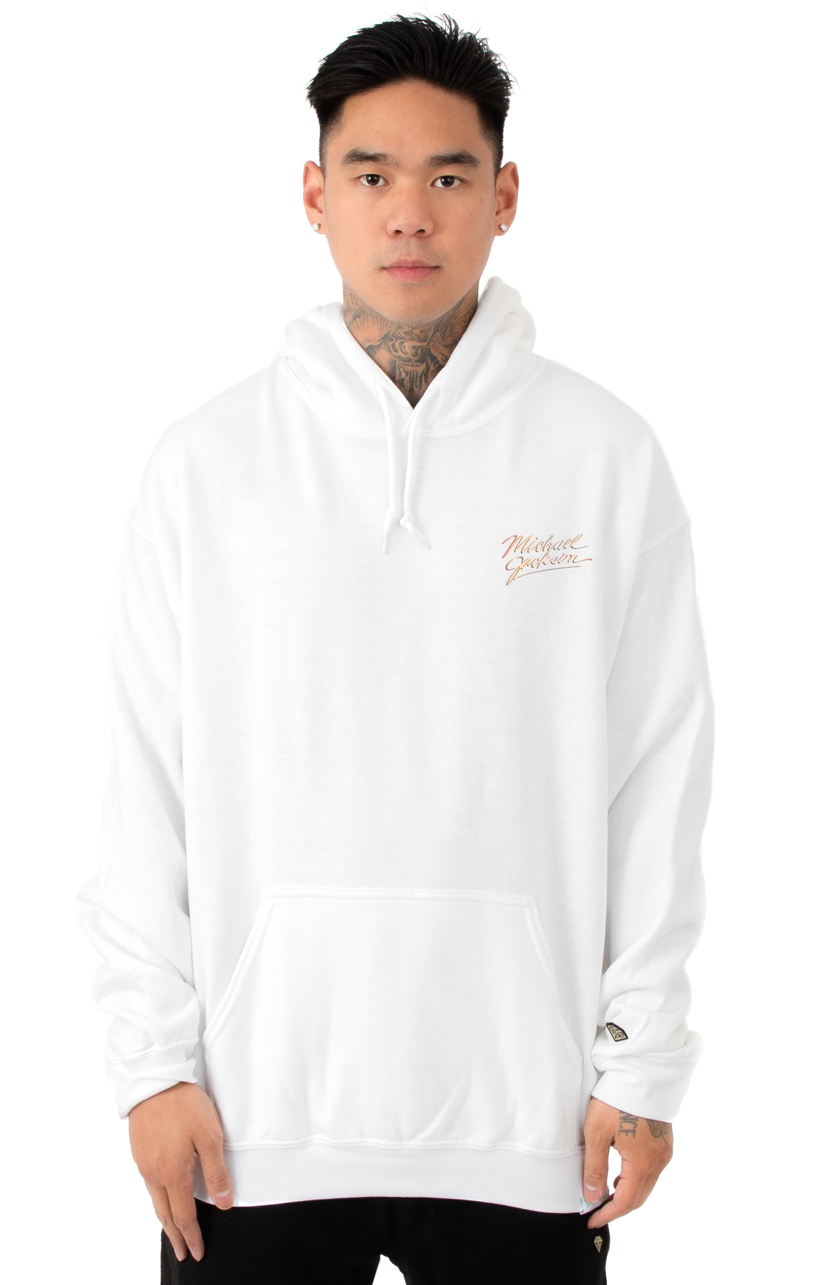 Michael Jackson Pullover Hoodie - White