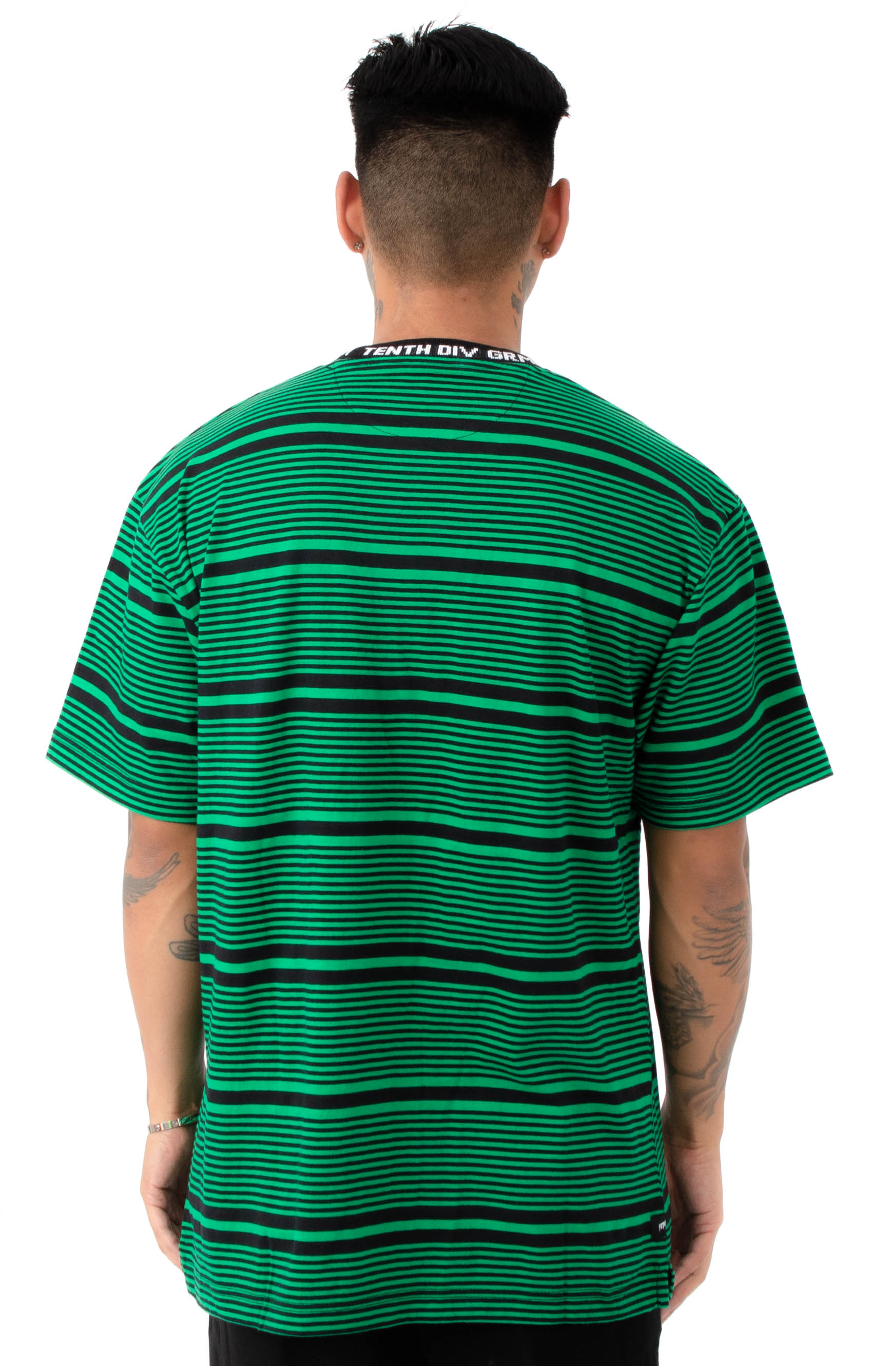 Foreigner Y/D Striped T-Shirt - Green 3