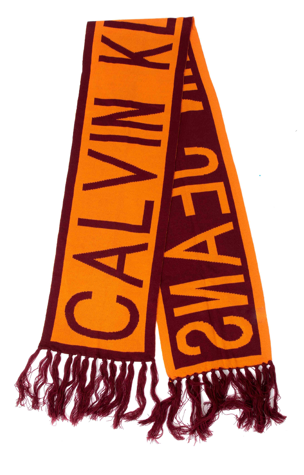 CK Logo Scarf - Orange Tiger