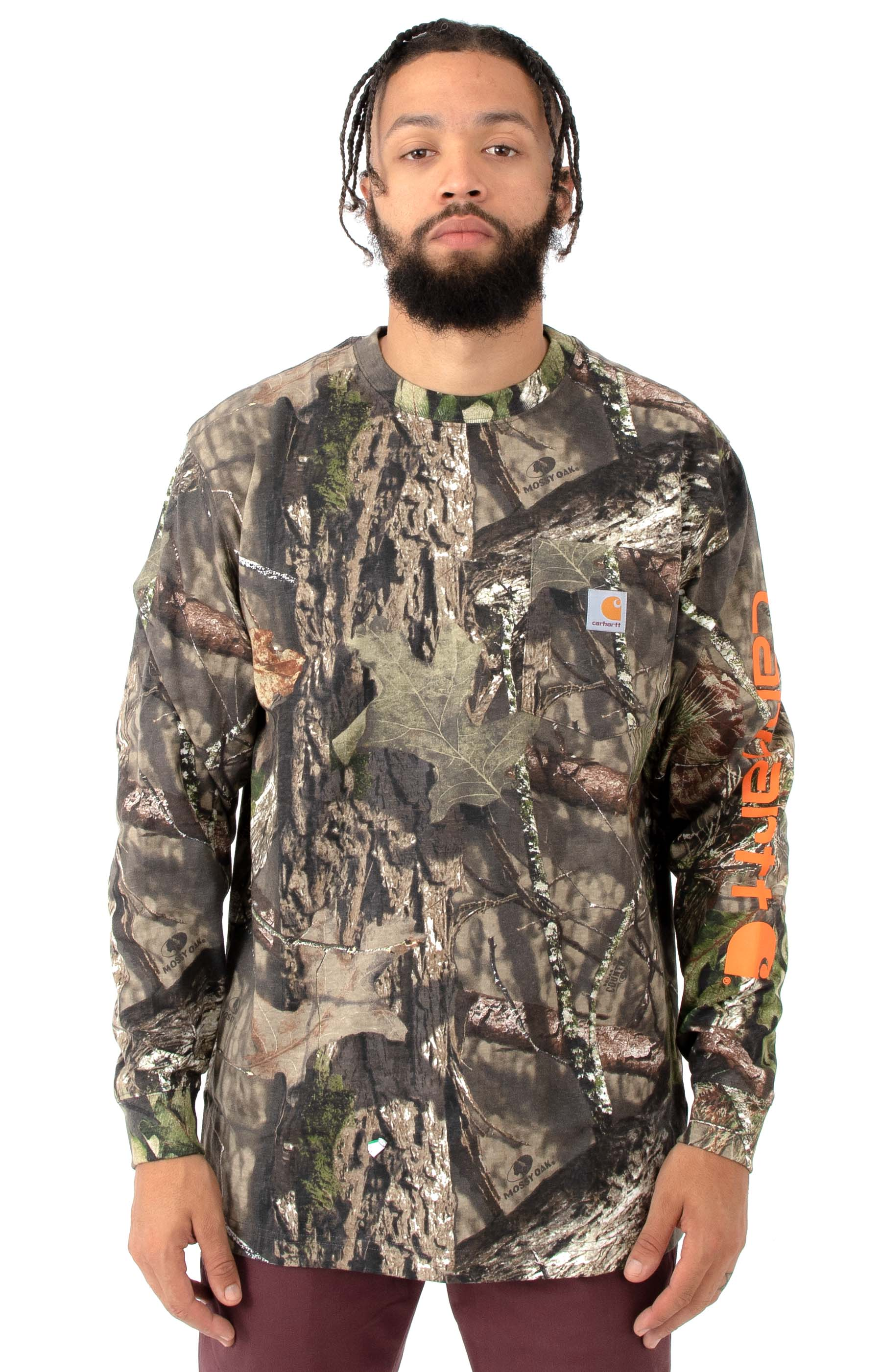 (101776) Workwear Graphic Camo L/S Shirt - Mossy Oak Break-Up Country