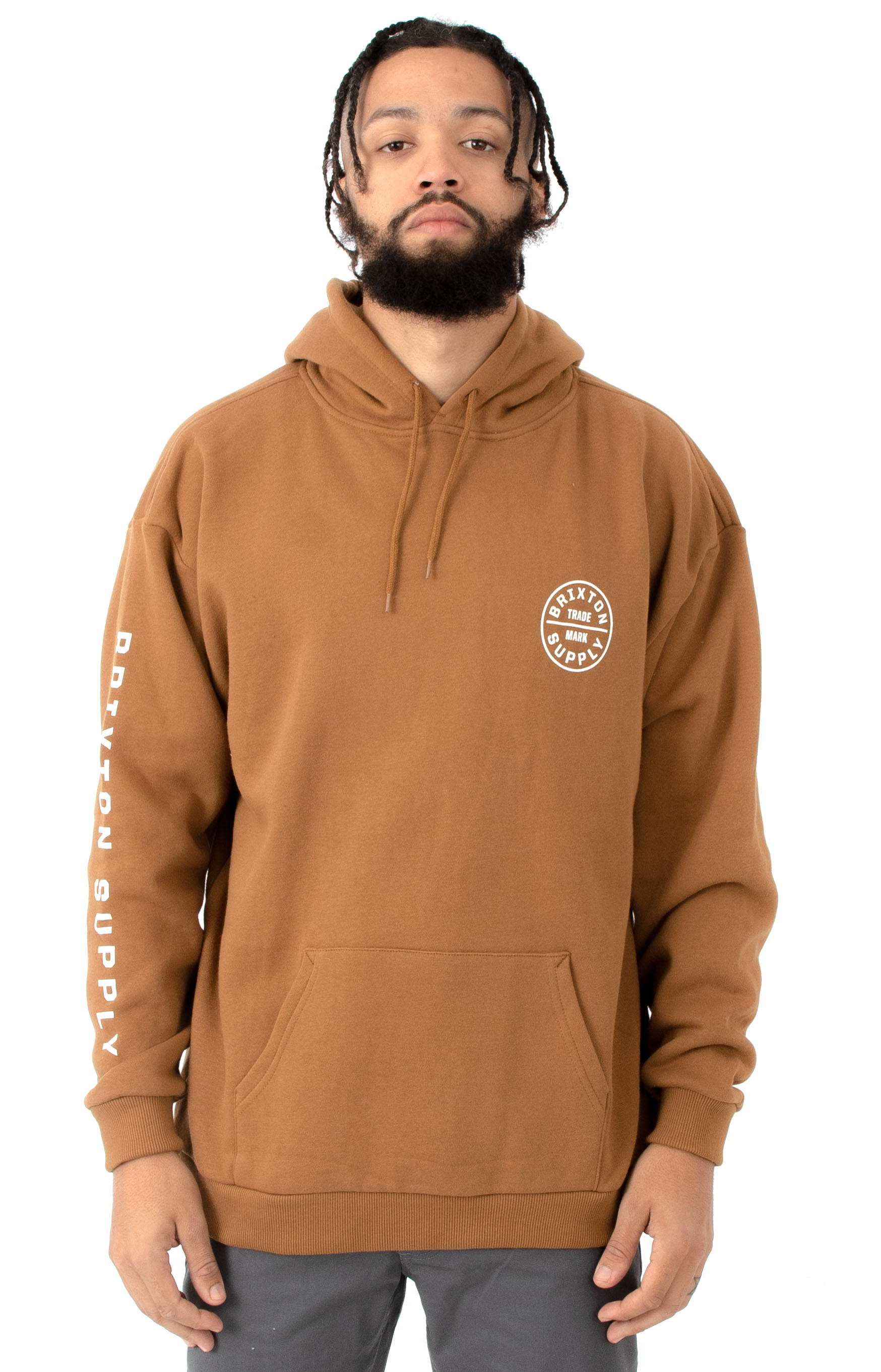 9551ae6709 Brixton, Oath II Pullover Hoodie - Washed Copper | MLTD