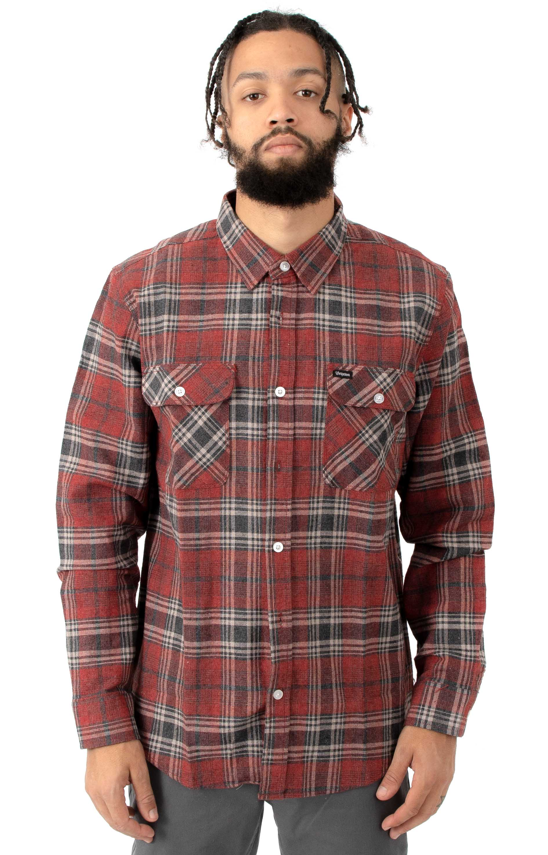 Bowery L/S Button-Up Shirt - Brick/Steel