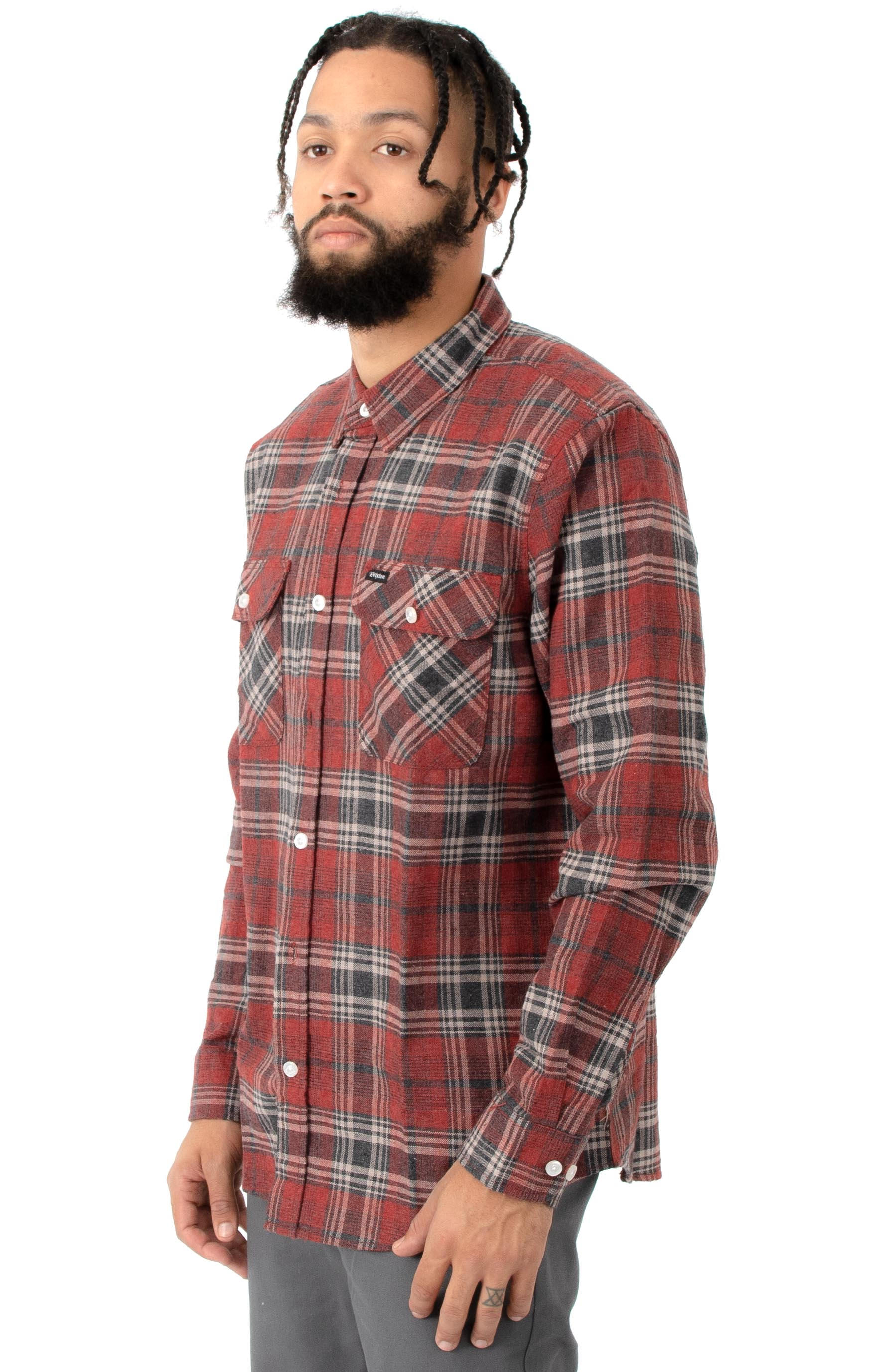 Bowery L/S Button-Up Shirt - Brick/Steel 2