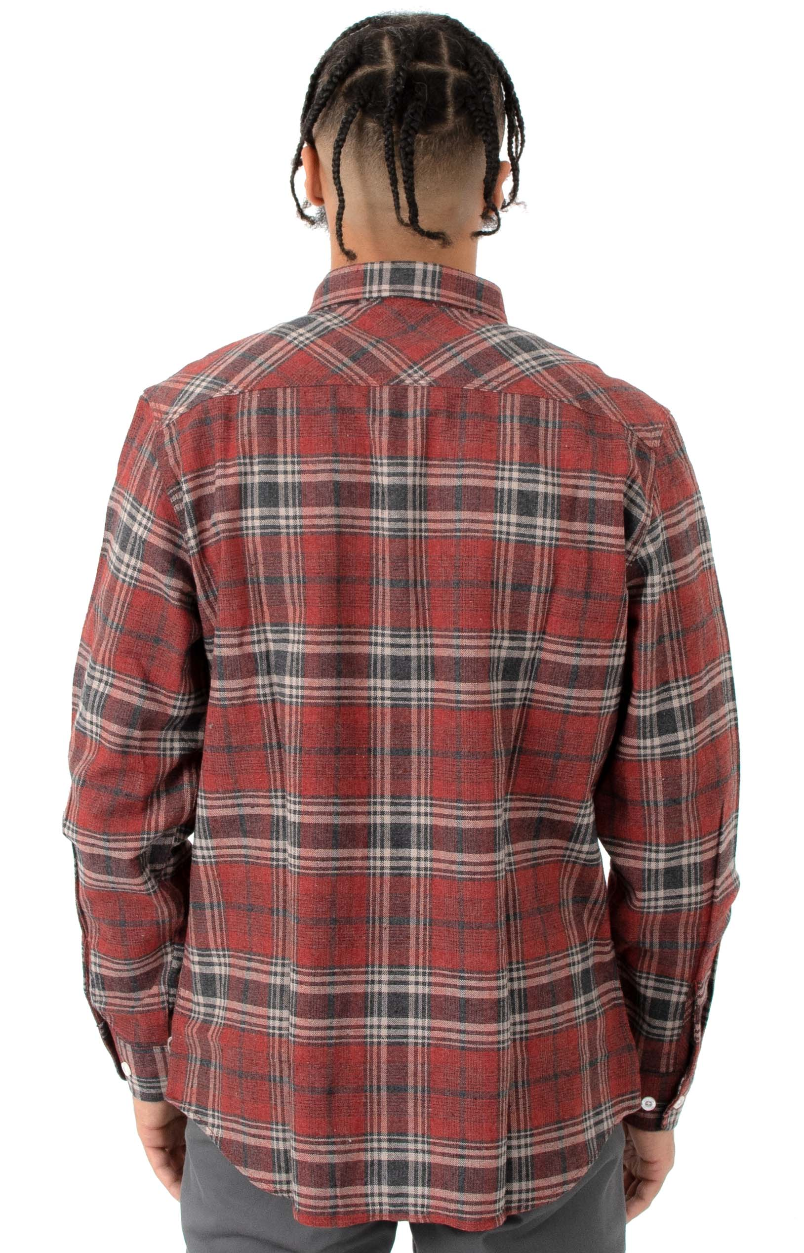 Bowery L/S Button-Up Shirt - Brick/Steel 3