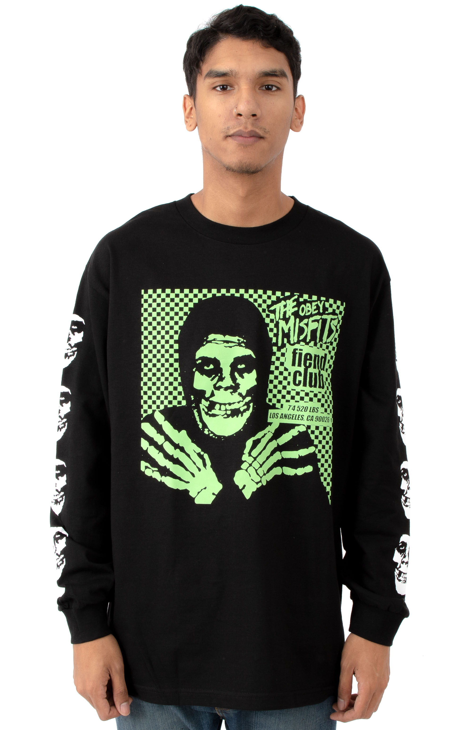 Fiend Club L/S T-Shirt - Hallow Black