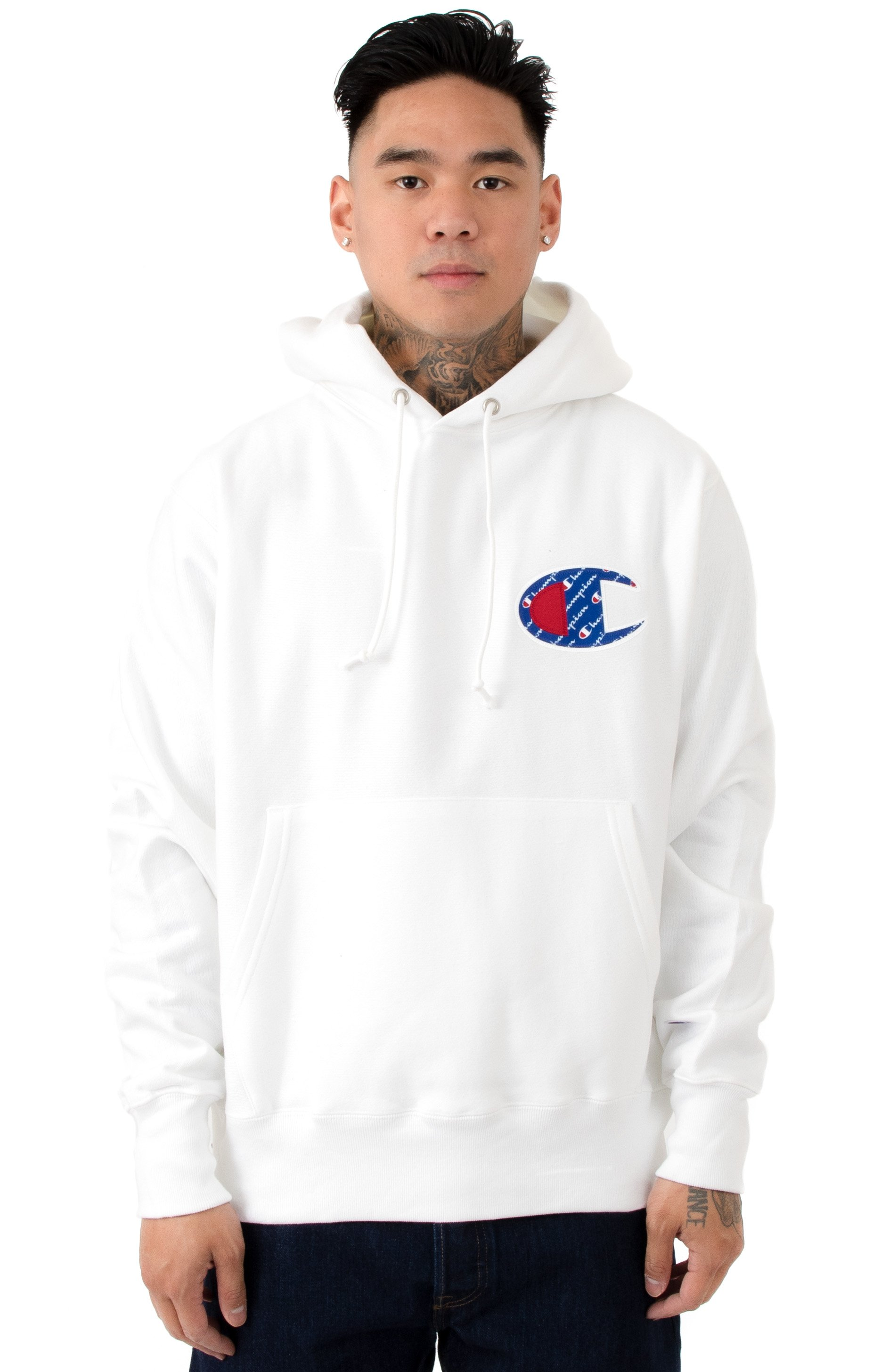 RW Sublimated C Logo Pullover Hoodie - White