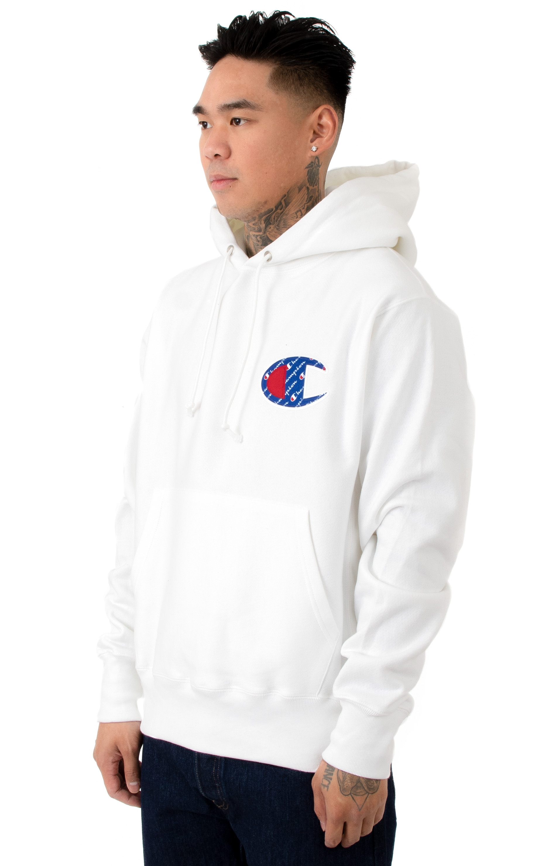 RW Sublimated C Logo Pullover Hoodie - White  2