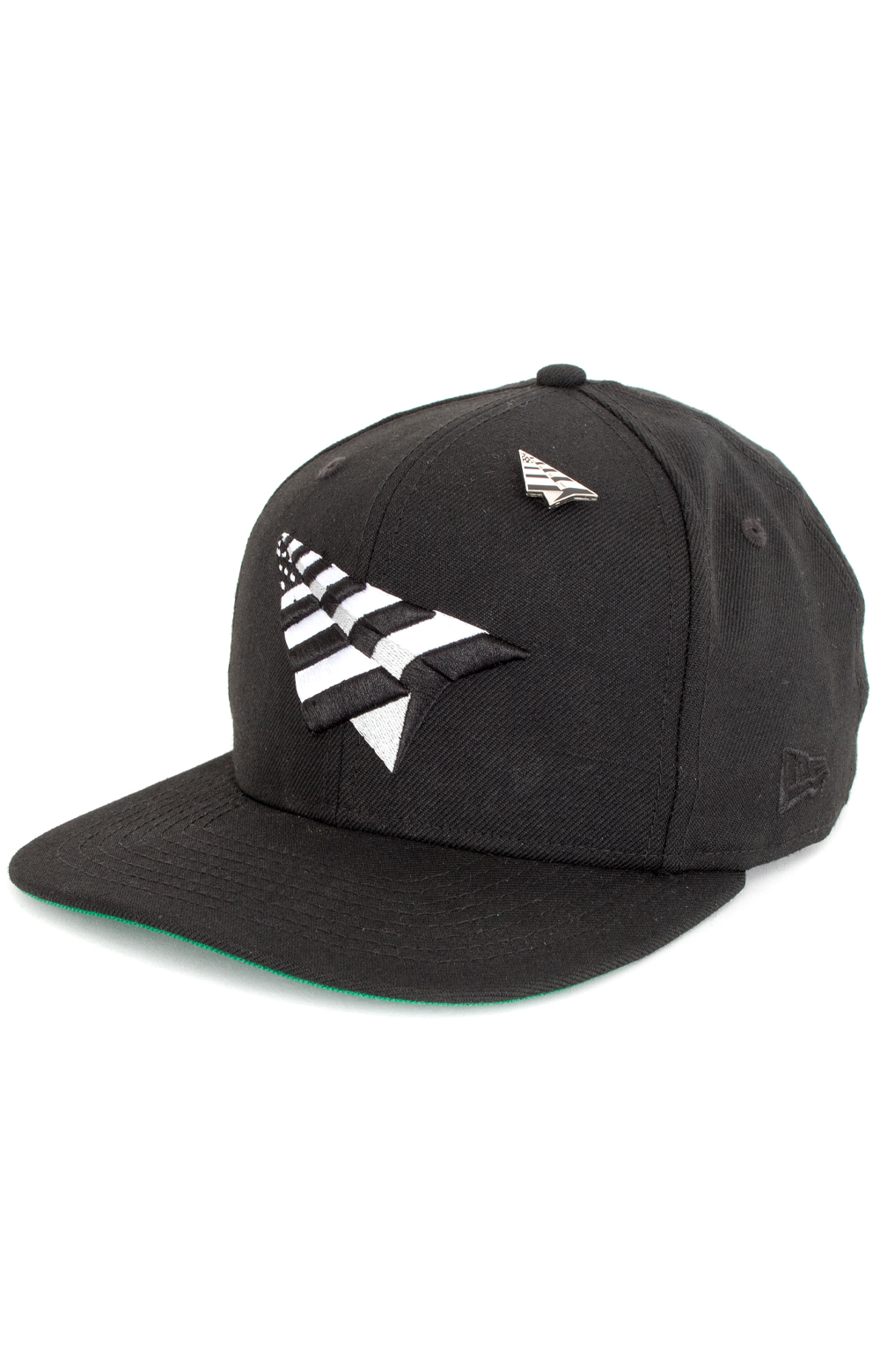 Crown NE Snap-Back Hat - Black/Green