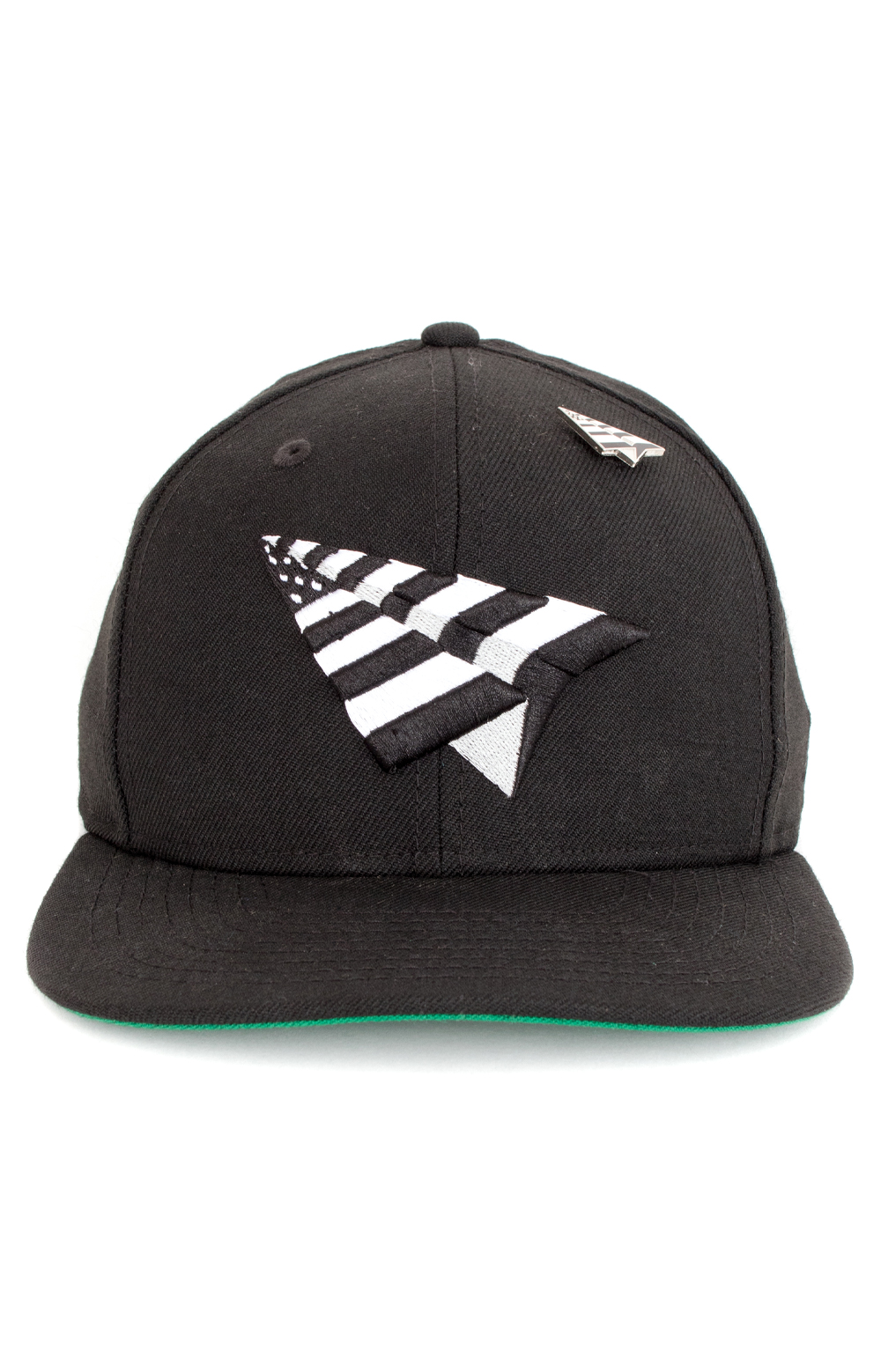 Crown NE Snap-Back Hat - Black/Green 2