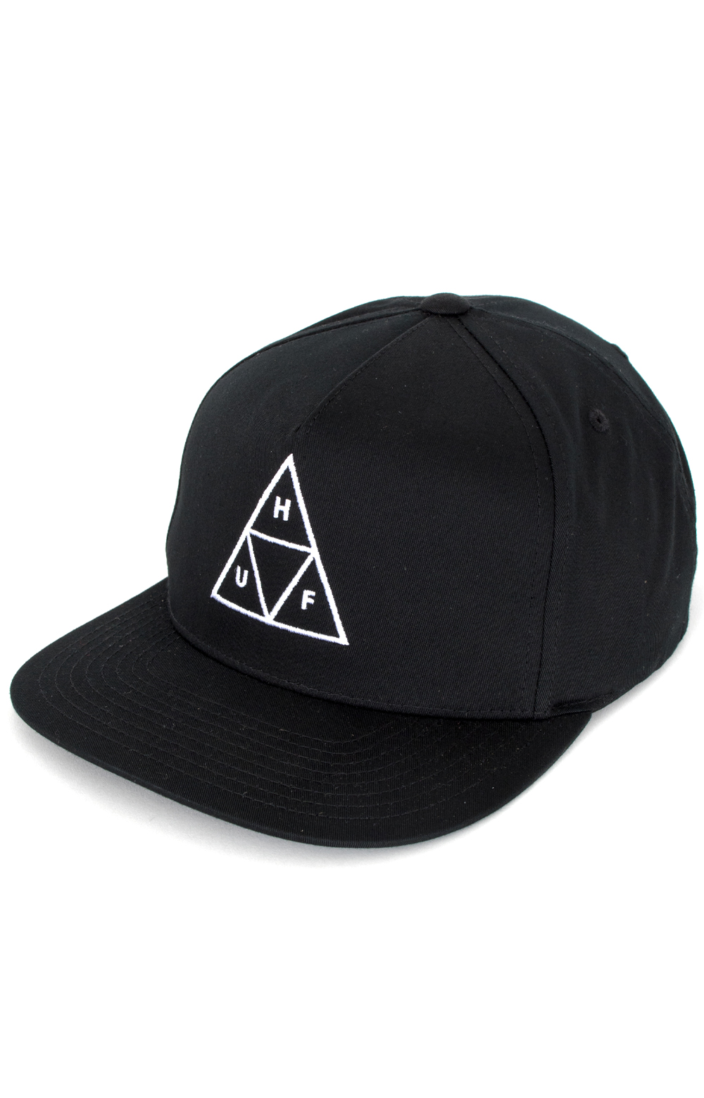 Essentials Triple Triangle Snap-Back Hat - Black