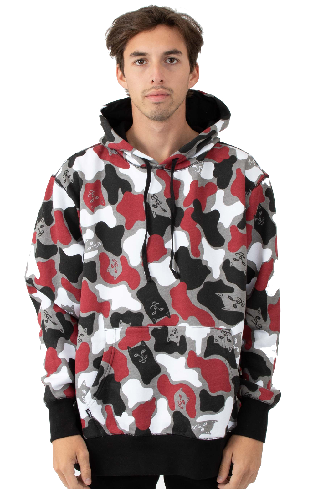 RIPNDIP, Nermcamo Pullover Hoodie - Red Camo