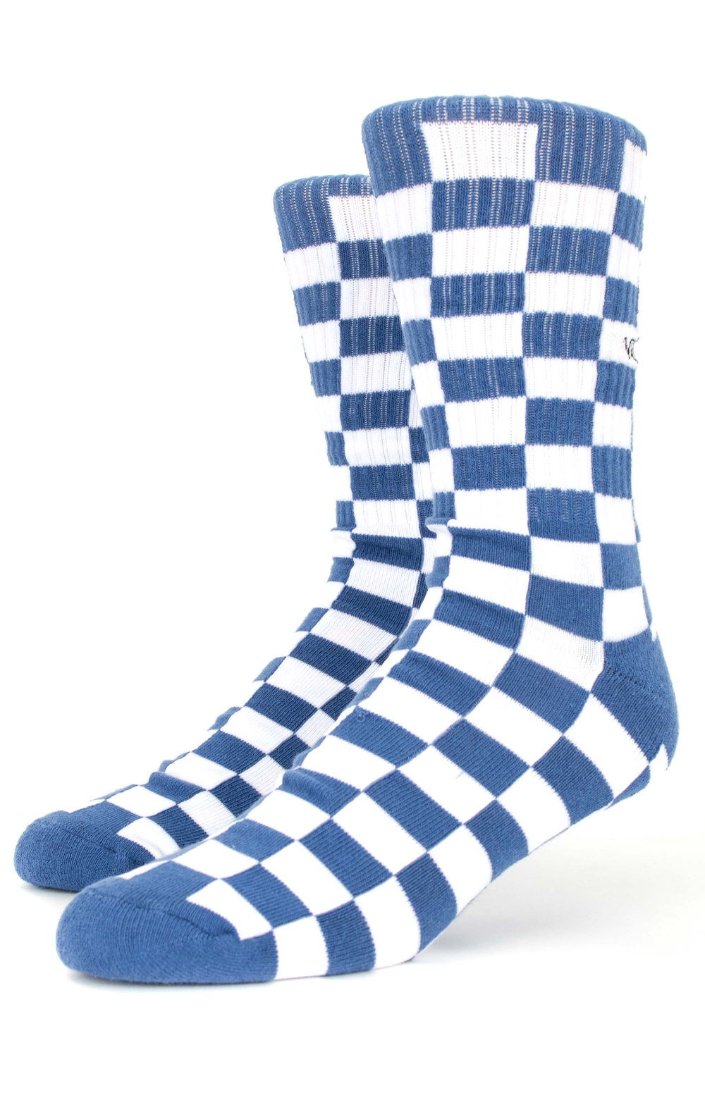 c1a6d6a15de7b8 Checkerboard Crew Socks - Blue White