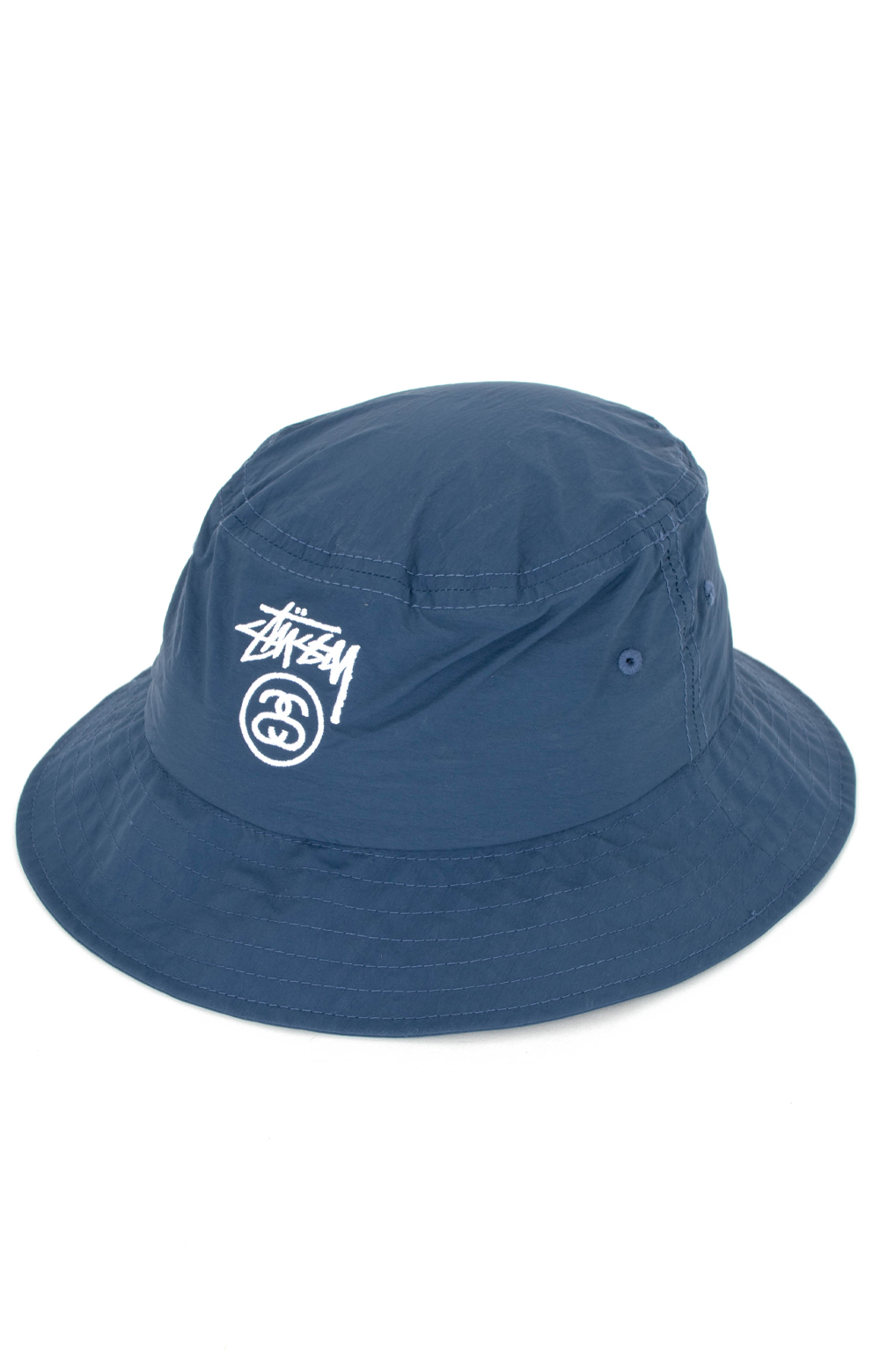 Crushable Stock Lock Bucket Hat - Navy
