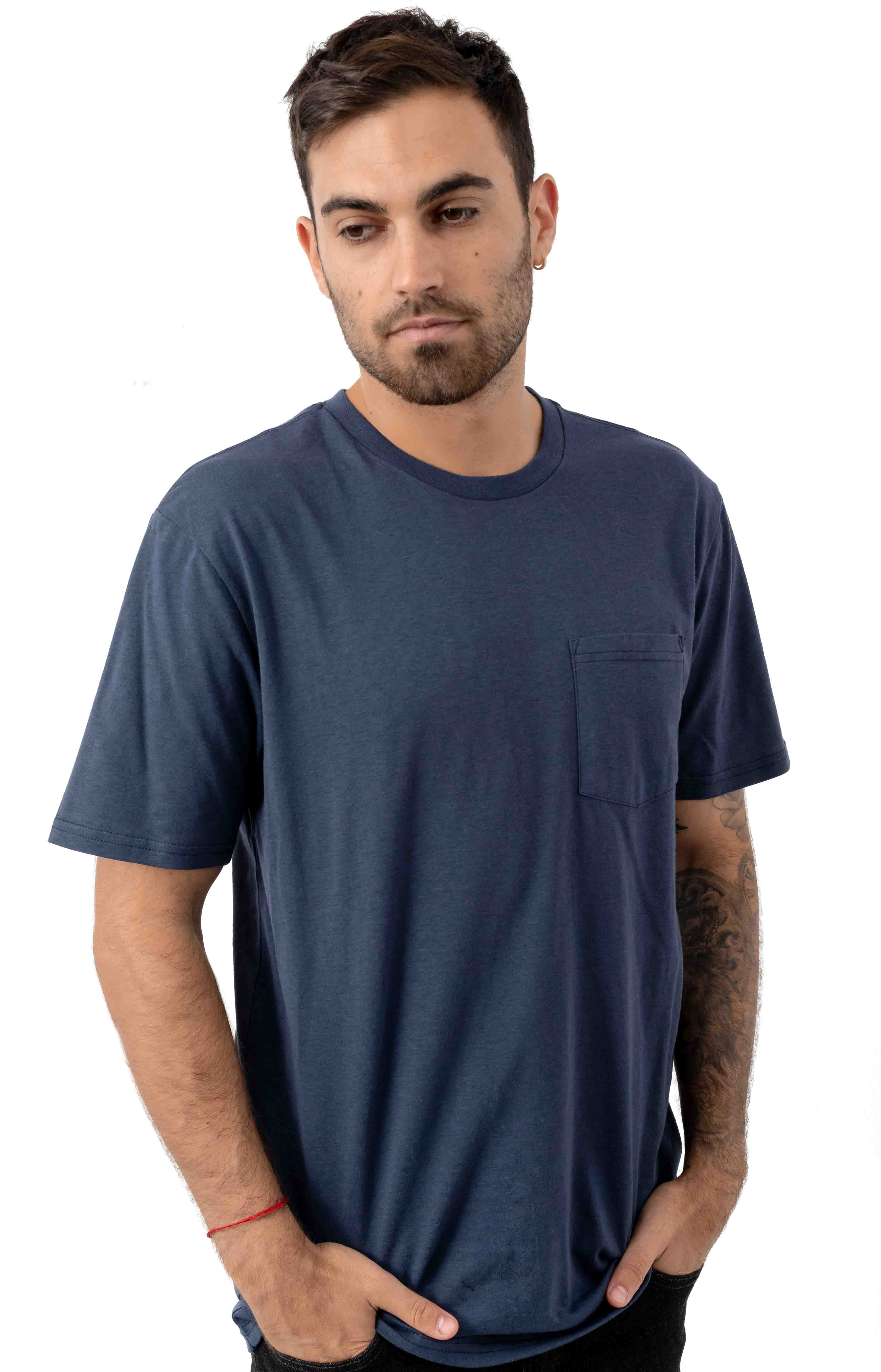 Basic Pocket T-Shirt - Washed Navy