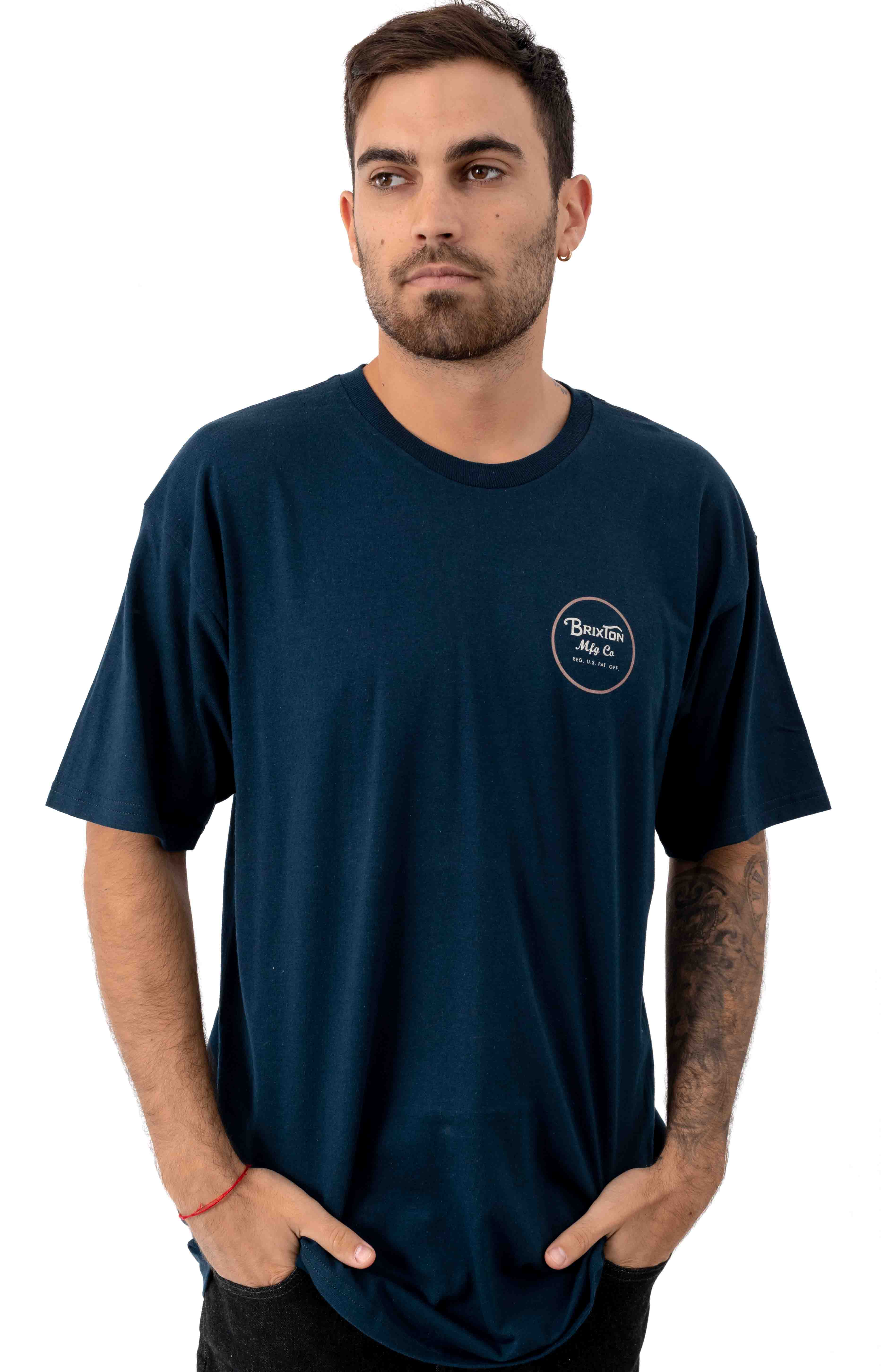 Wheeler II T-Shirt - Navy/Orange