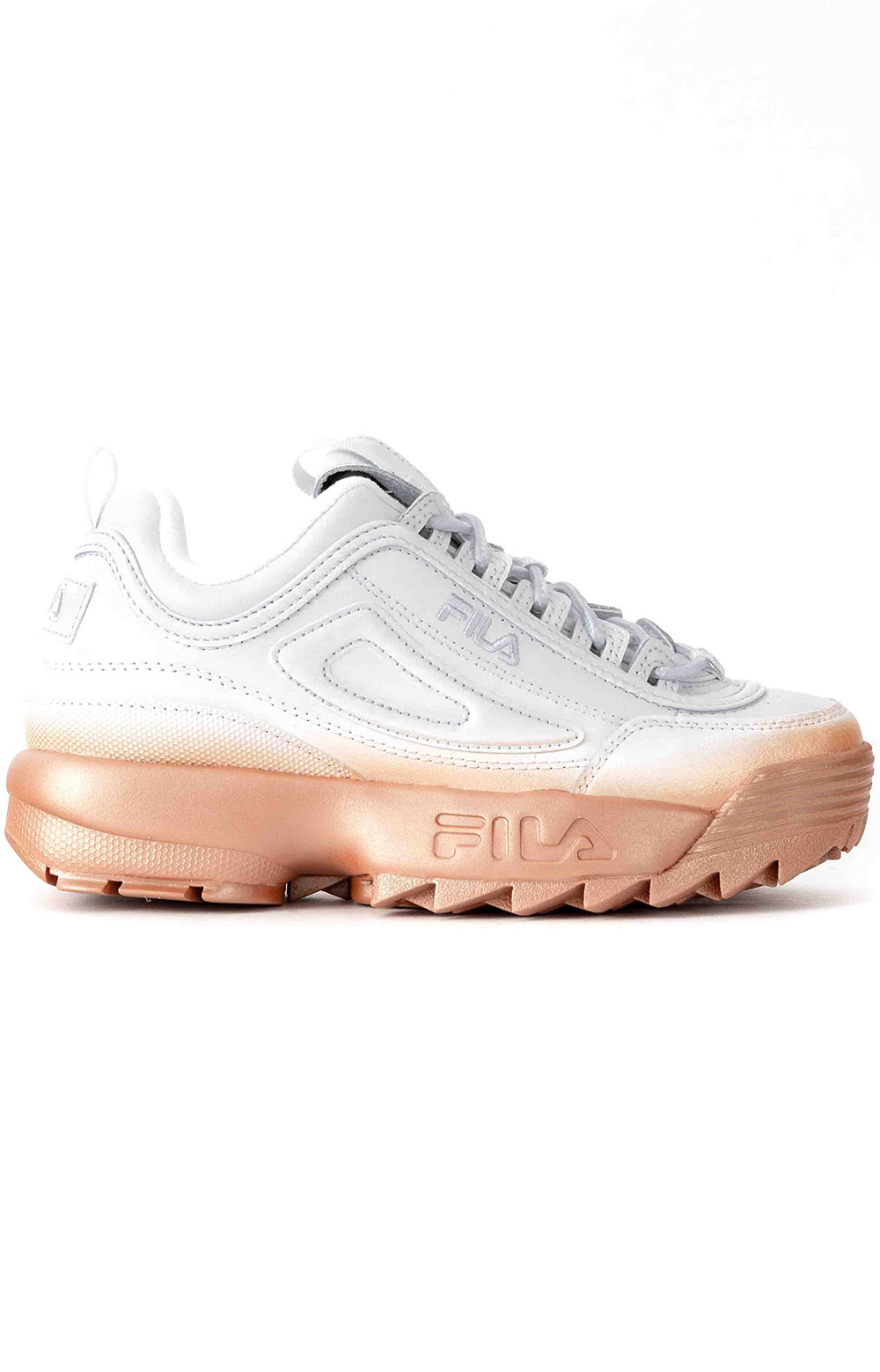 Brights Fade Disruptor II Shoes - White/Rose Gold