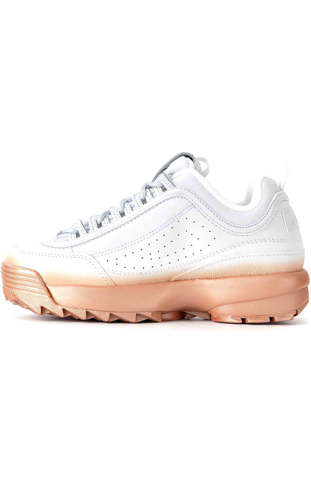 Brights Fade Disruptor II Shoes - White/Rose Gold 4