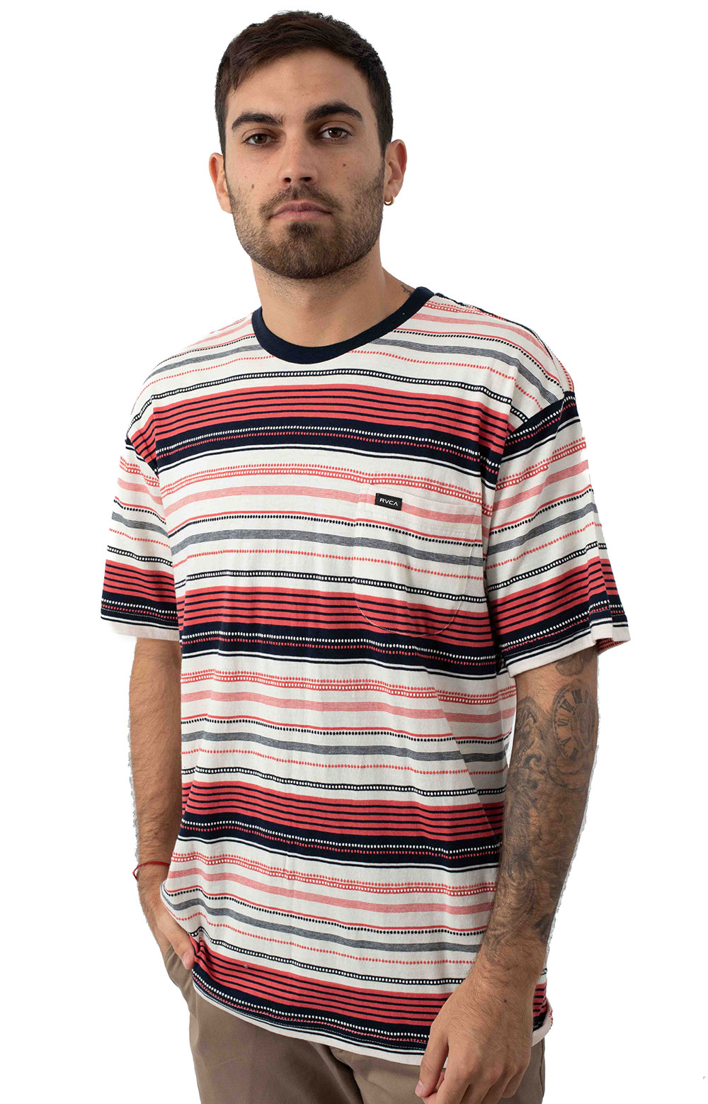 Deadbeat Stripe Knit T-Shirt - Baked Apple