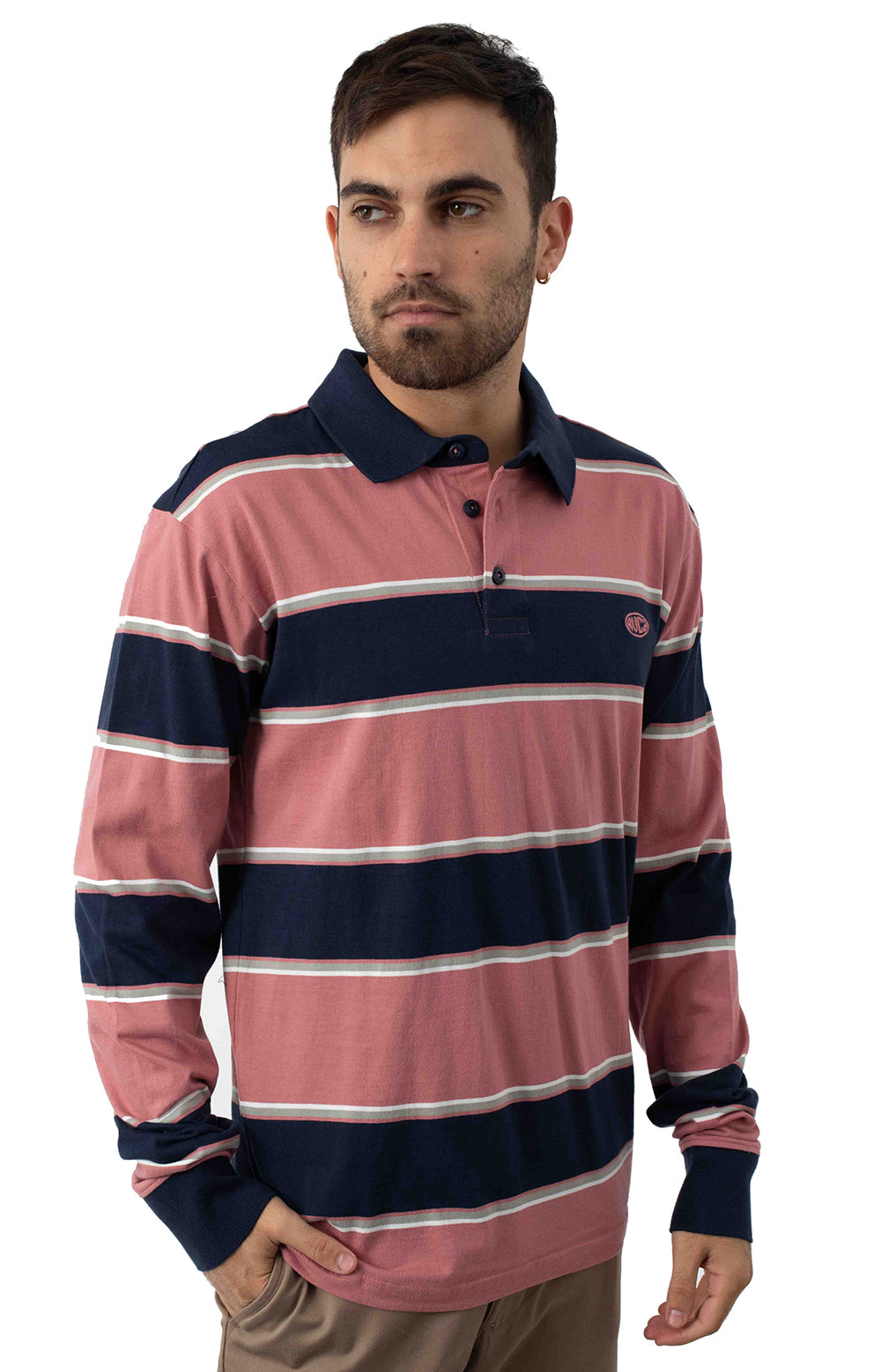 April Skies L/S Polo - Dusty Rose  2